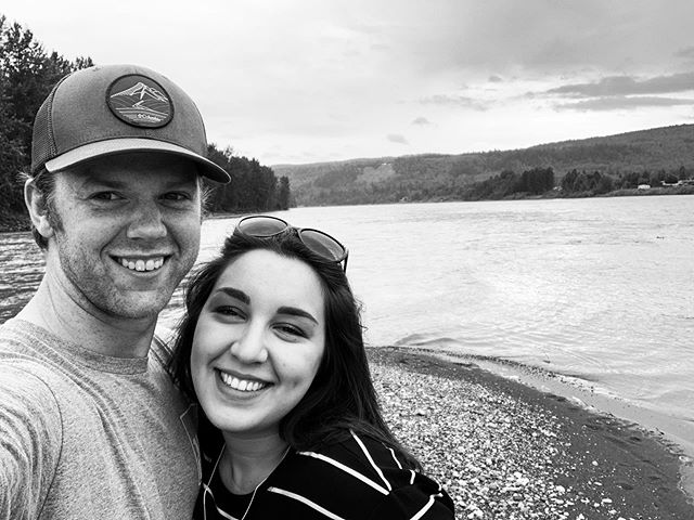 That time we drove to Quesnel for a coffee table 💕  #quesnel #worthit #beautifulbc #smalltownlove #lovebc #explorebc #hubby
