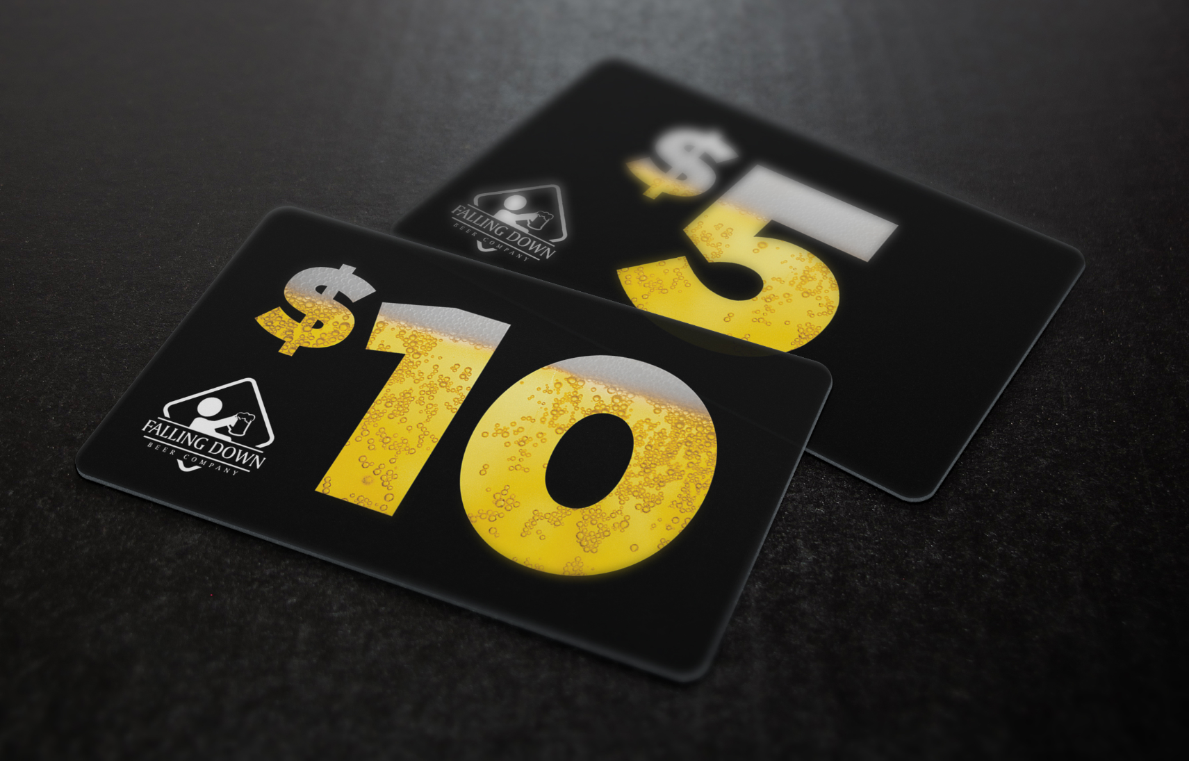 Falling Down Beer Co. - Gift Card Design
