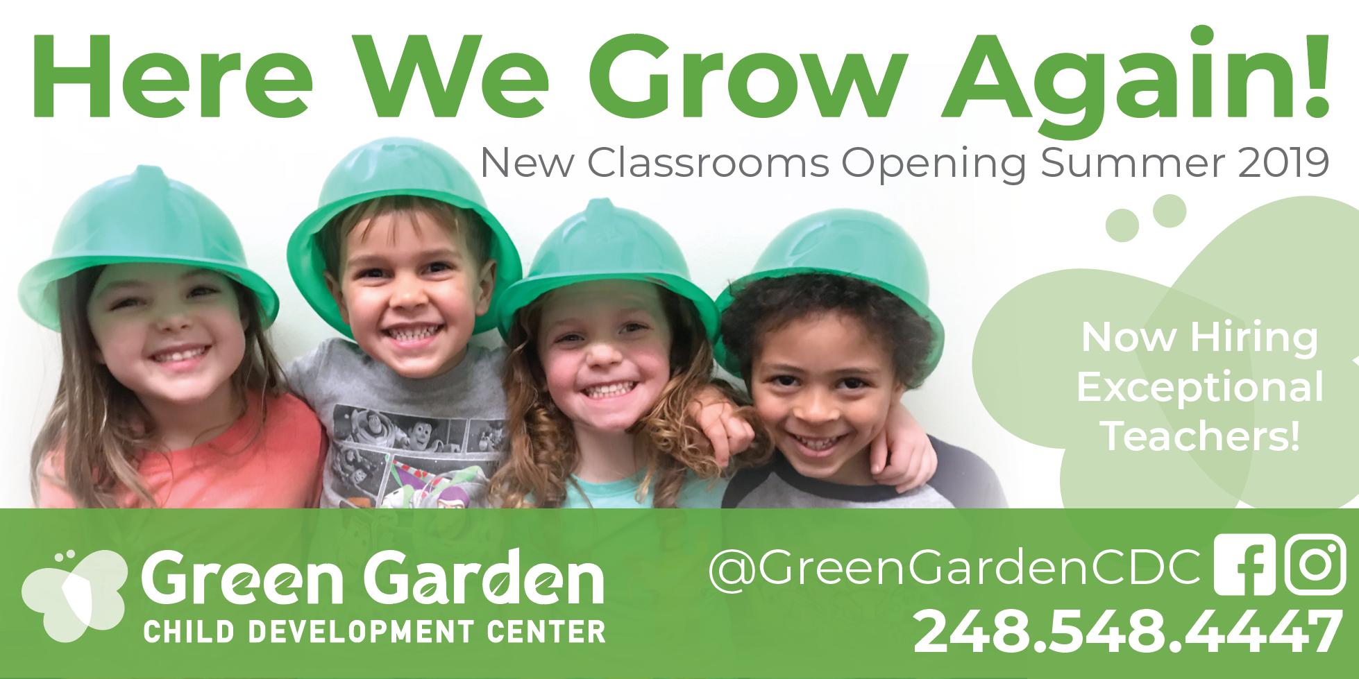Green Garden Child Development Center - Banner Design