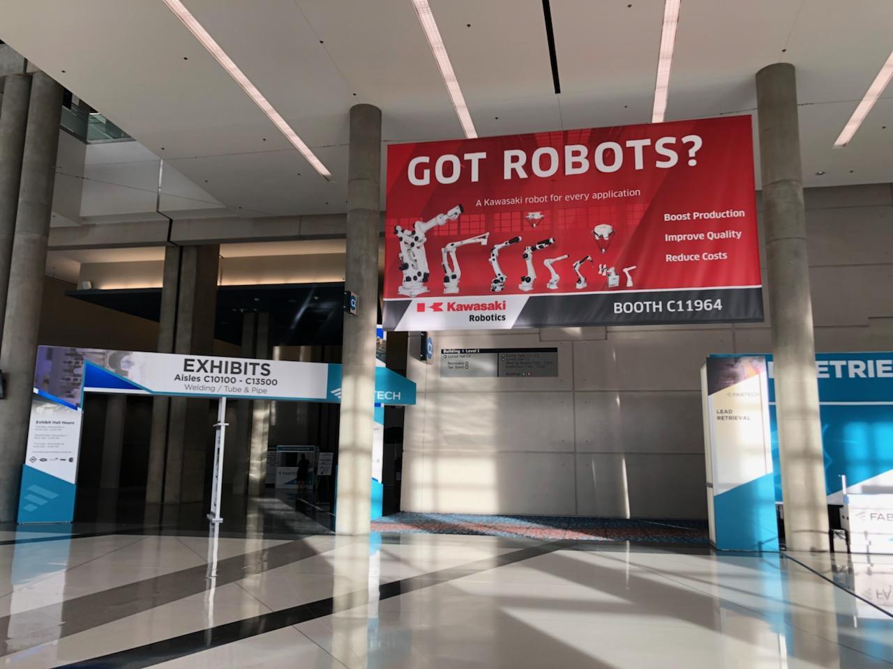 Kawasaki Robotics - FABTECH 2018 - Banner Design