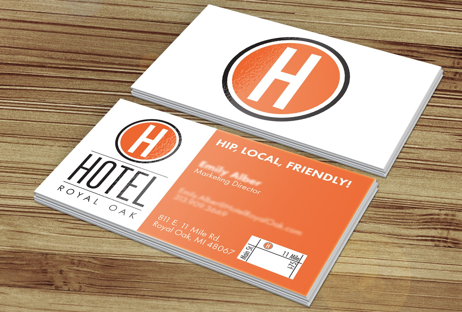 Hotel Royal Oak - Business Card Design