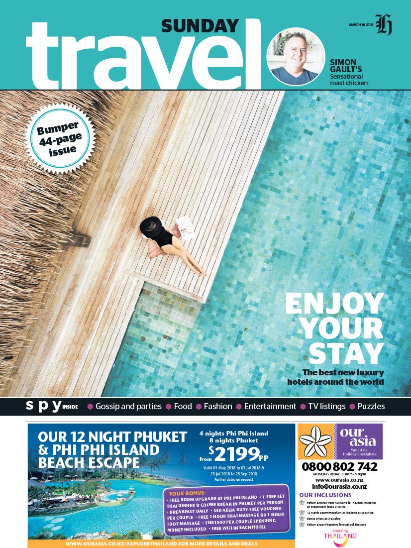 03182018 NZ Herald on Sunday - Travel front cover Six Senses Fiji.jpg