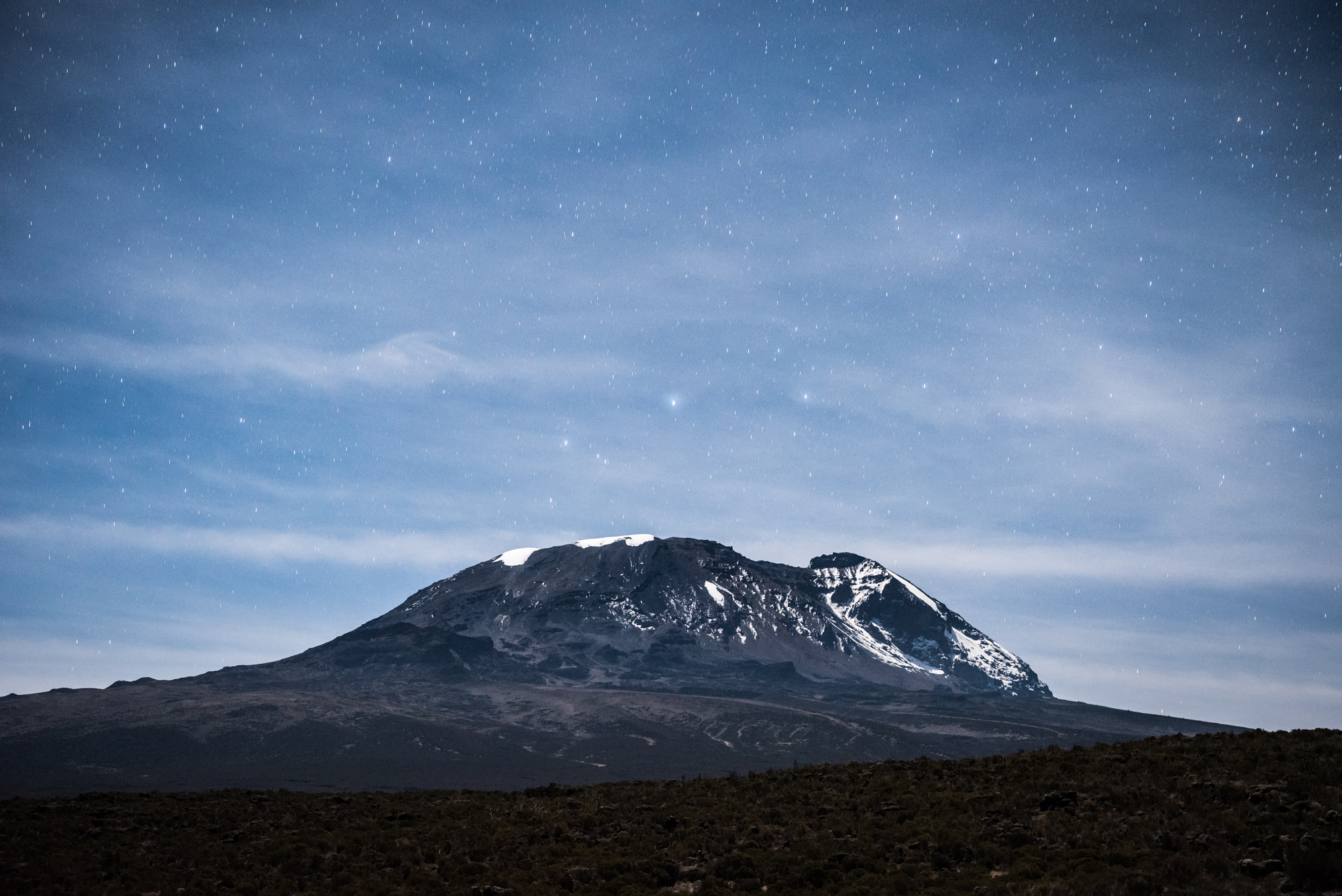 Mount Kilimanjaro under the Big Dipper, photo credit to Taylor Glenn