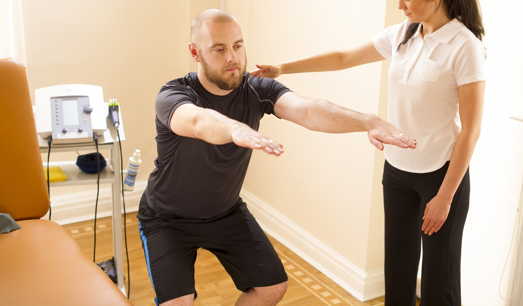 Treatment... - The essence of our practice is individual attention with an holistic approach and one-on-one treatment with the therapist's hands guiding you through the movements to recovery. The therapist will use his hands applying gentle manual techniques to different parts of your body (not necessarily where you feel the pain) to facilitate tissue changes such as releasing tender points, and decreasing muscle and tissue tension. You will also participate in active exercises to improve strength, flexibility, balance and coordination. Modalities such as: electro stimulation, ultrasound, infrared, and hydrotherapy can be part of your treatment. Treatment interventions will be based on evaluation.