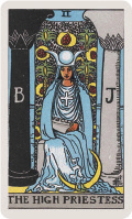 Major Arcana Card II - The High Priestess, where the Moon appeared on it