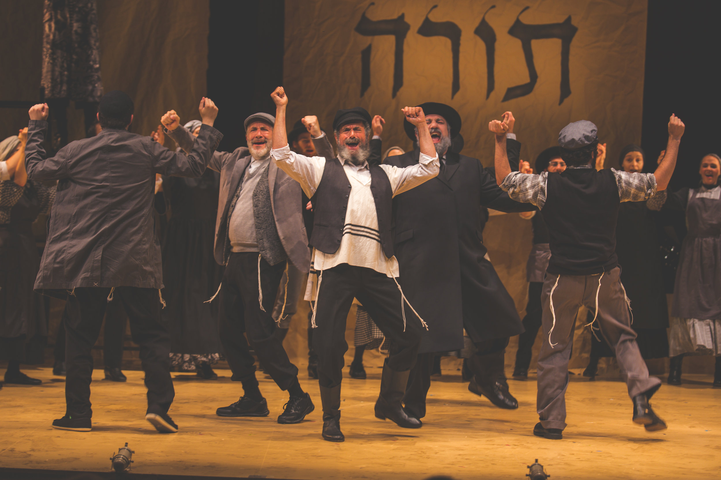 Steven Skybell (Tevye) and Ensemble. Photo credit: Victor Nechay / ProperPix