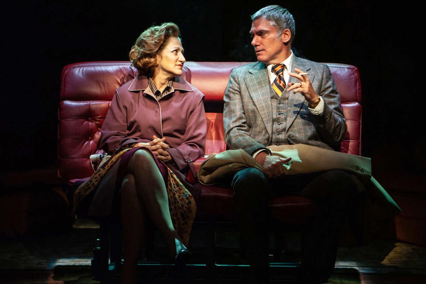 Edie Falco and Glenn Fitzgerald.  Photo Credit: Monique Carboni