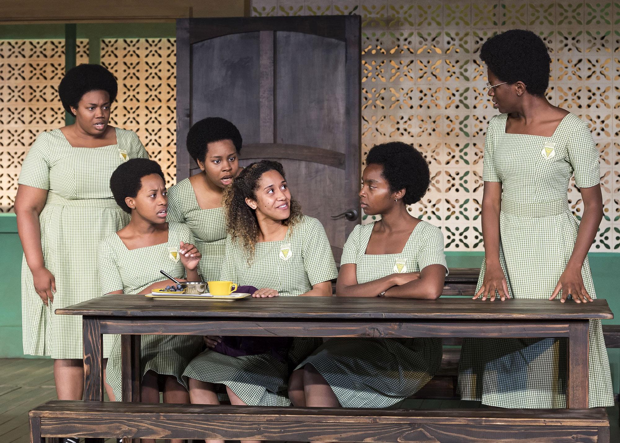 Abena Mensah-Bonsu, Mirirai Sithole, Paige Gilbert, Joanna A. Jones, MaameYaa Boafo, and Latoya Edwards. Photo Credit: Craig Schwartz.