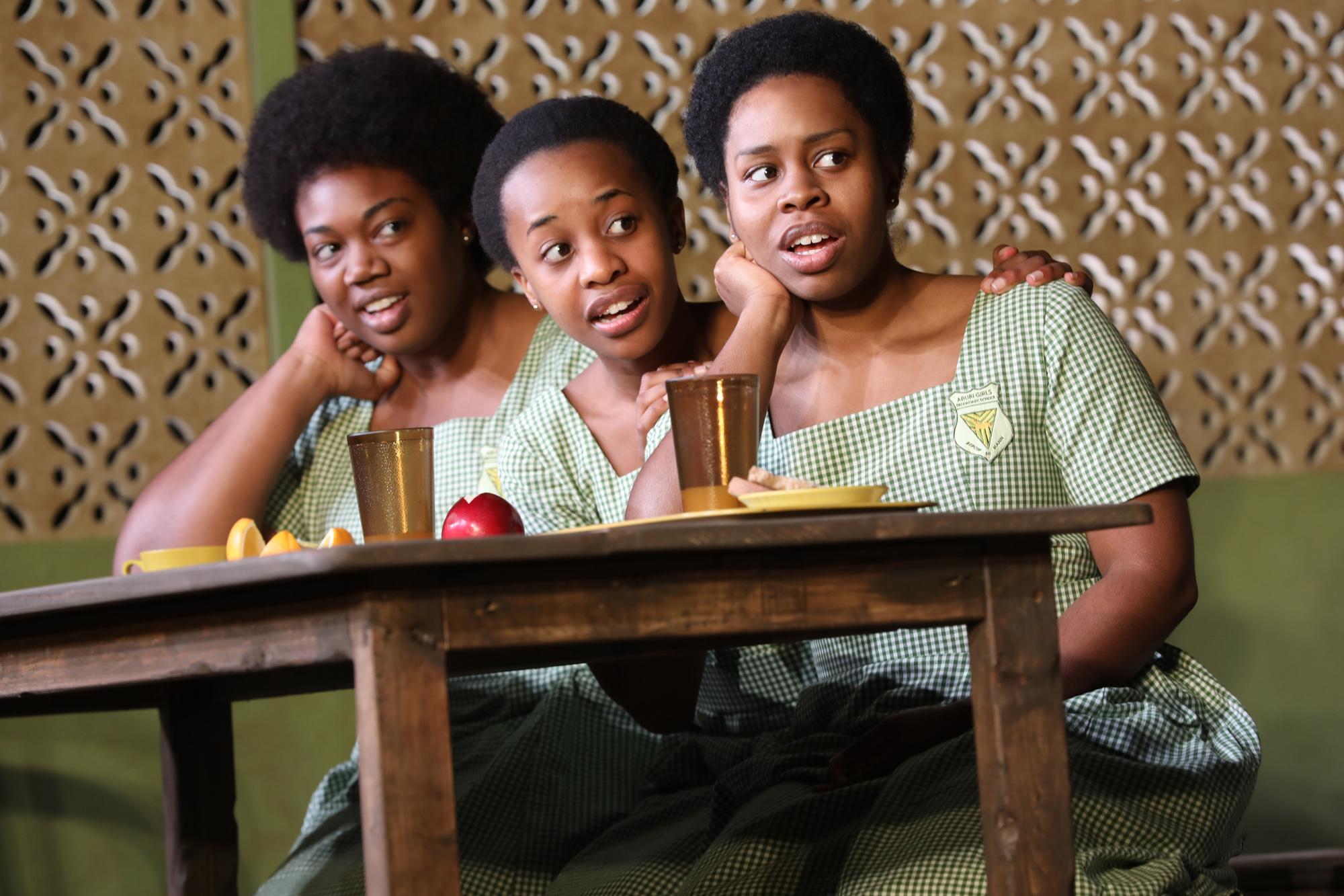 Abena Mensah-Bonsu, Mirirai-Sithole, and Paige Gilbert. Photo Credit: Joan Marcus.
