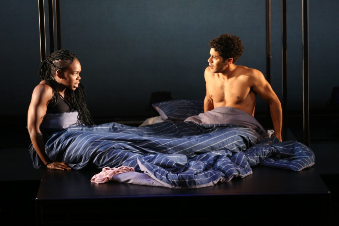 "Ngozi Anyanwu and Ian Quinlan in ""Good Grief"".  Photo Credit: Carol Rosegg."