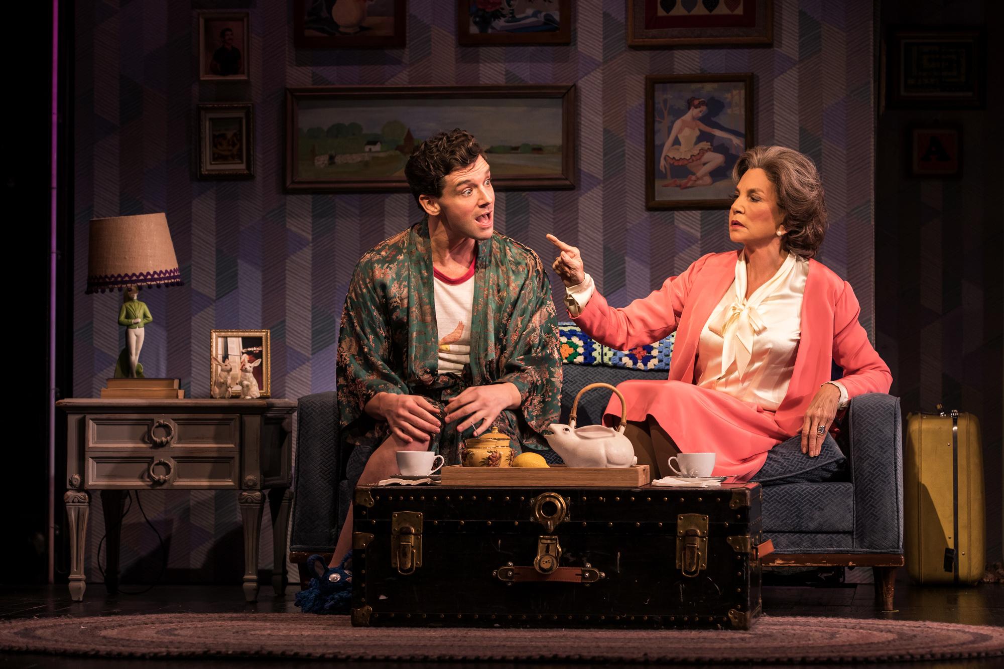 Michael Urie and Mercedes Ruehl. Photo Credit: Matthew Murphy