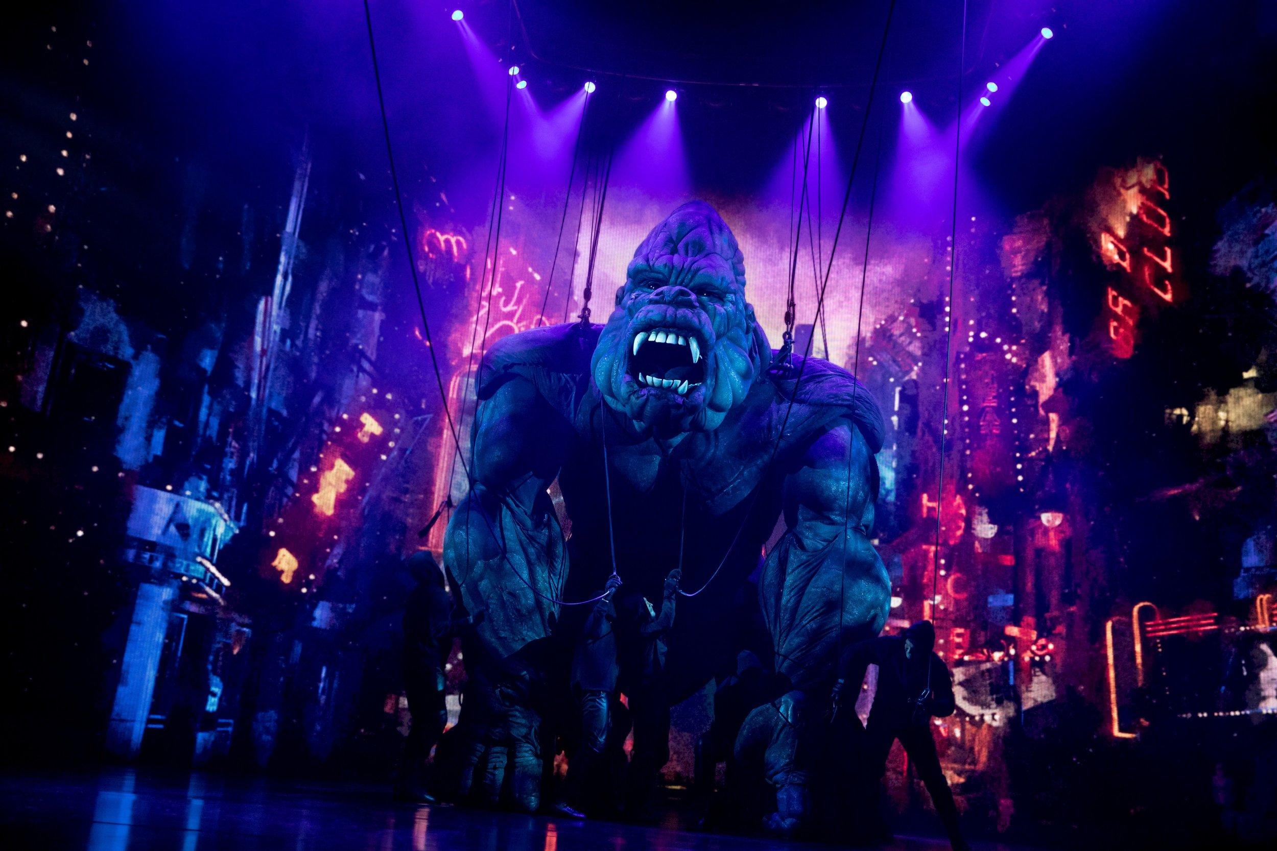 King Kong on the loose. Photo Credit: Joan Marcus.