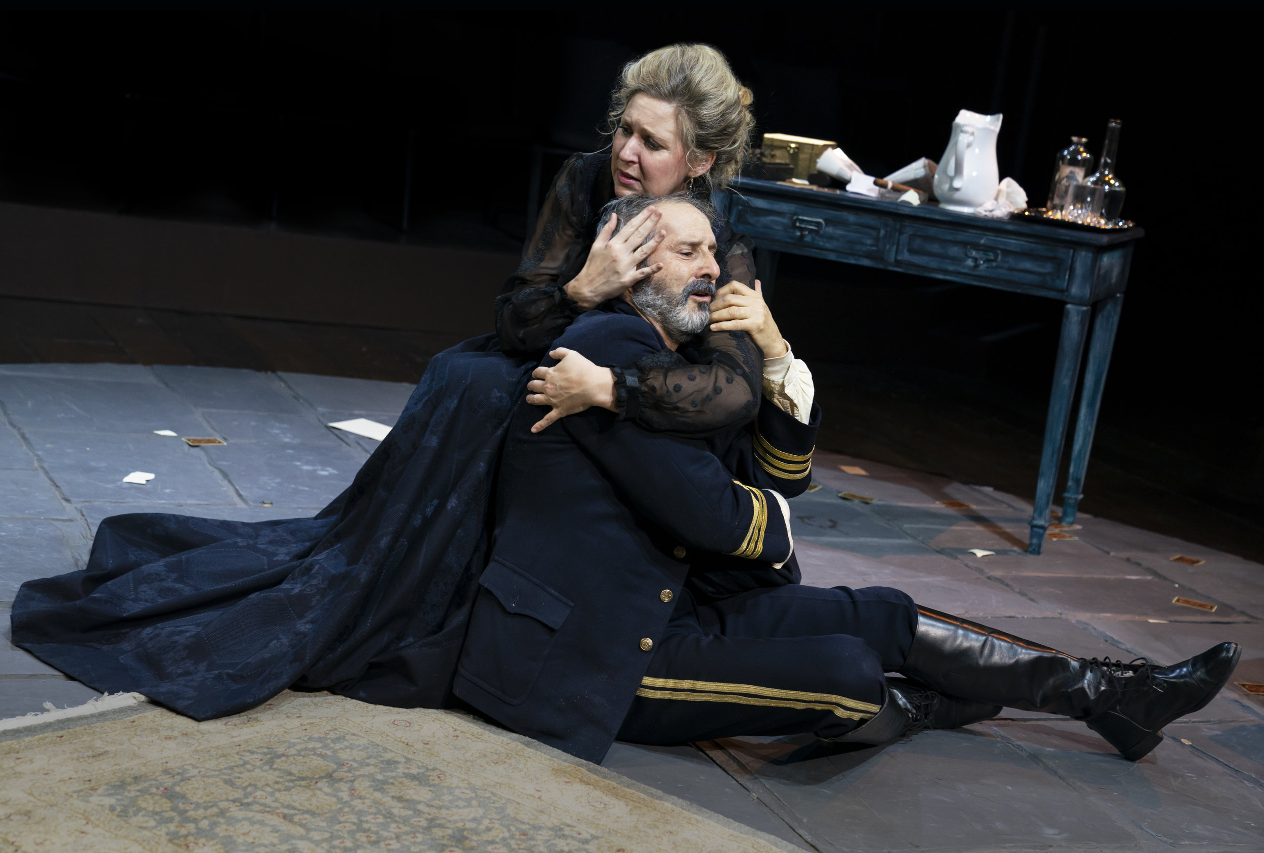 "Cassie Beck and Richard Topol in ""The Dance of Death"".  Photo Credit: Joan Marcus"