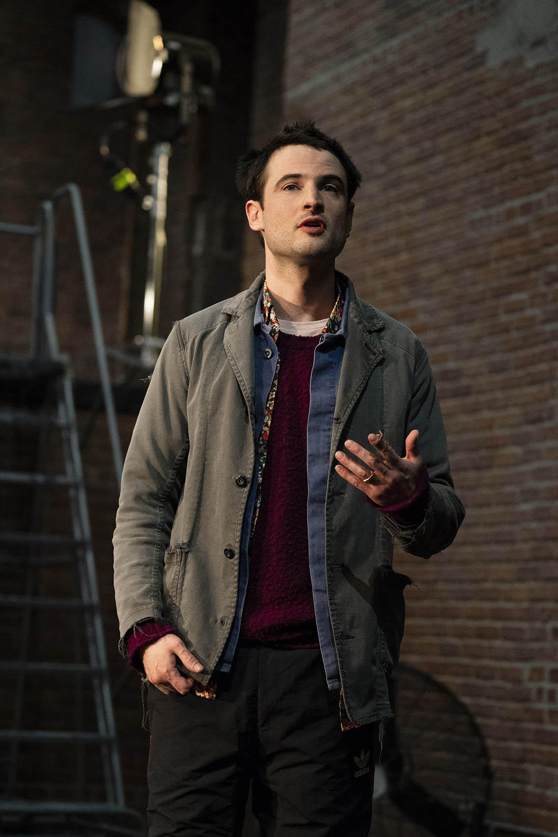 "Tom Sturridge in ""Sea Wall"". Photo Credit: Joan Marcus."