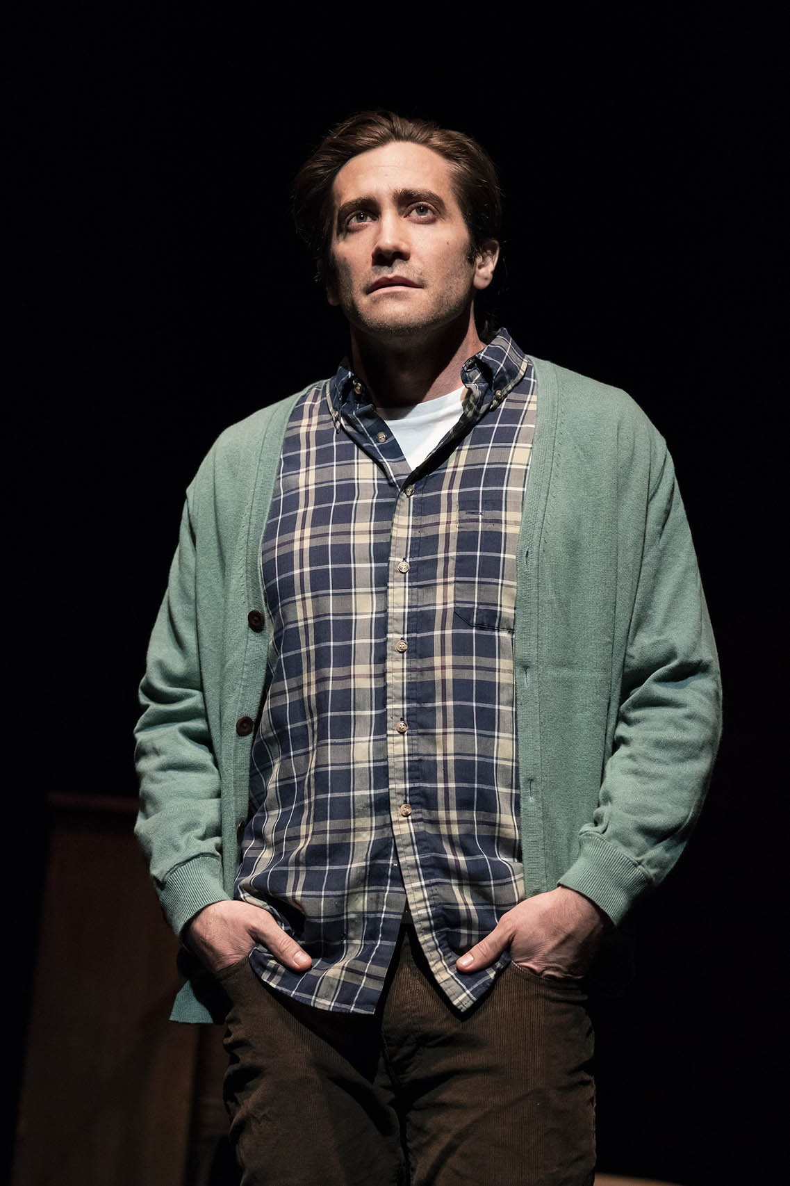 "Jake Gyllenhaal in ""A Life"". Photo Credit: Joan Marcus."