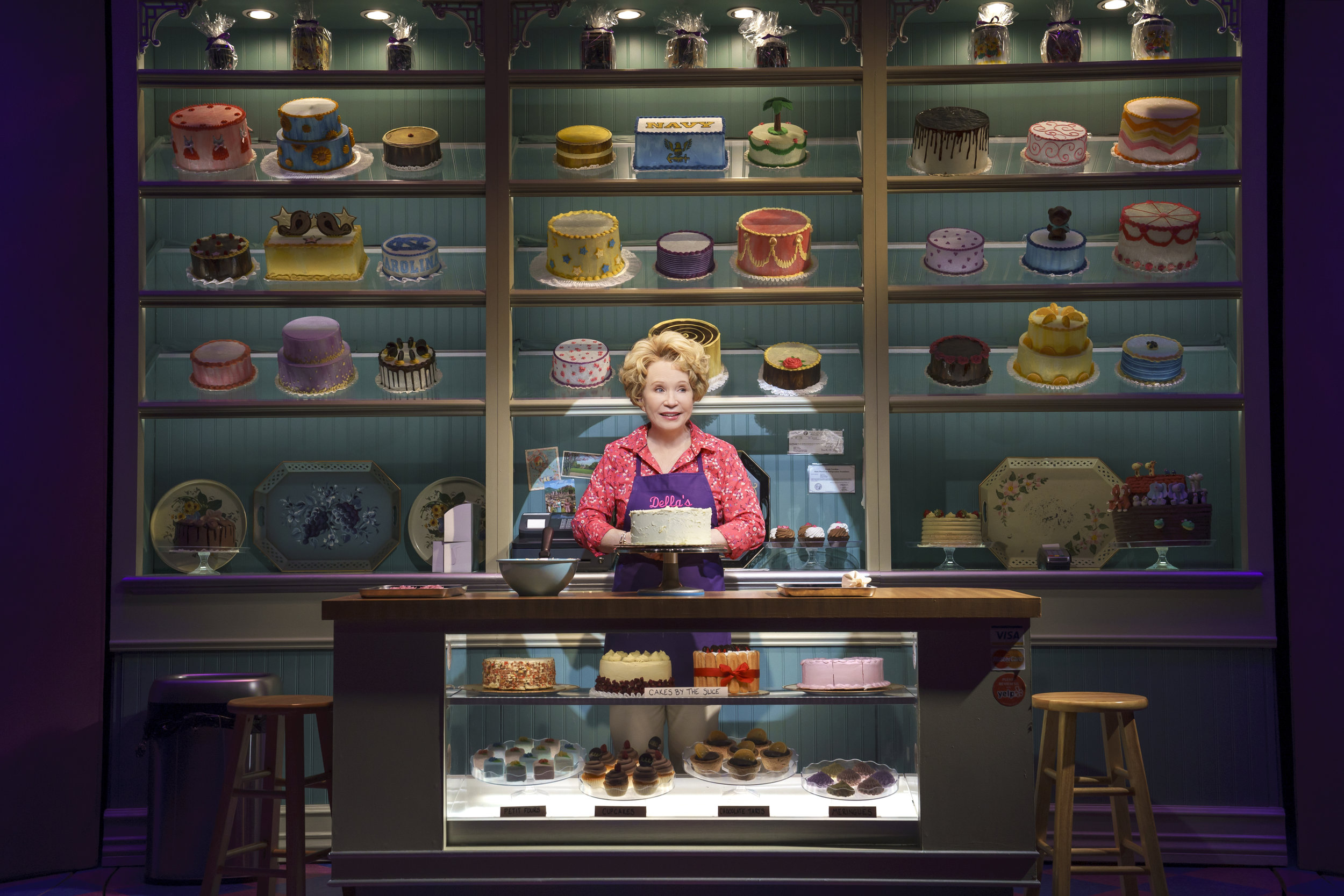 Debra Jo Rupp as the lovable Della. Photo Credit: Joan Marcus