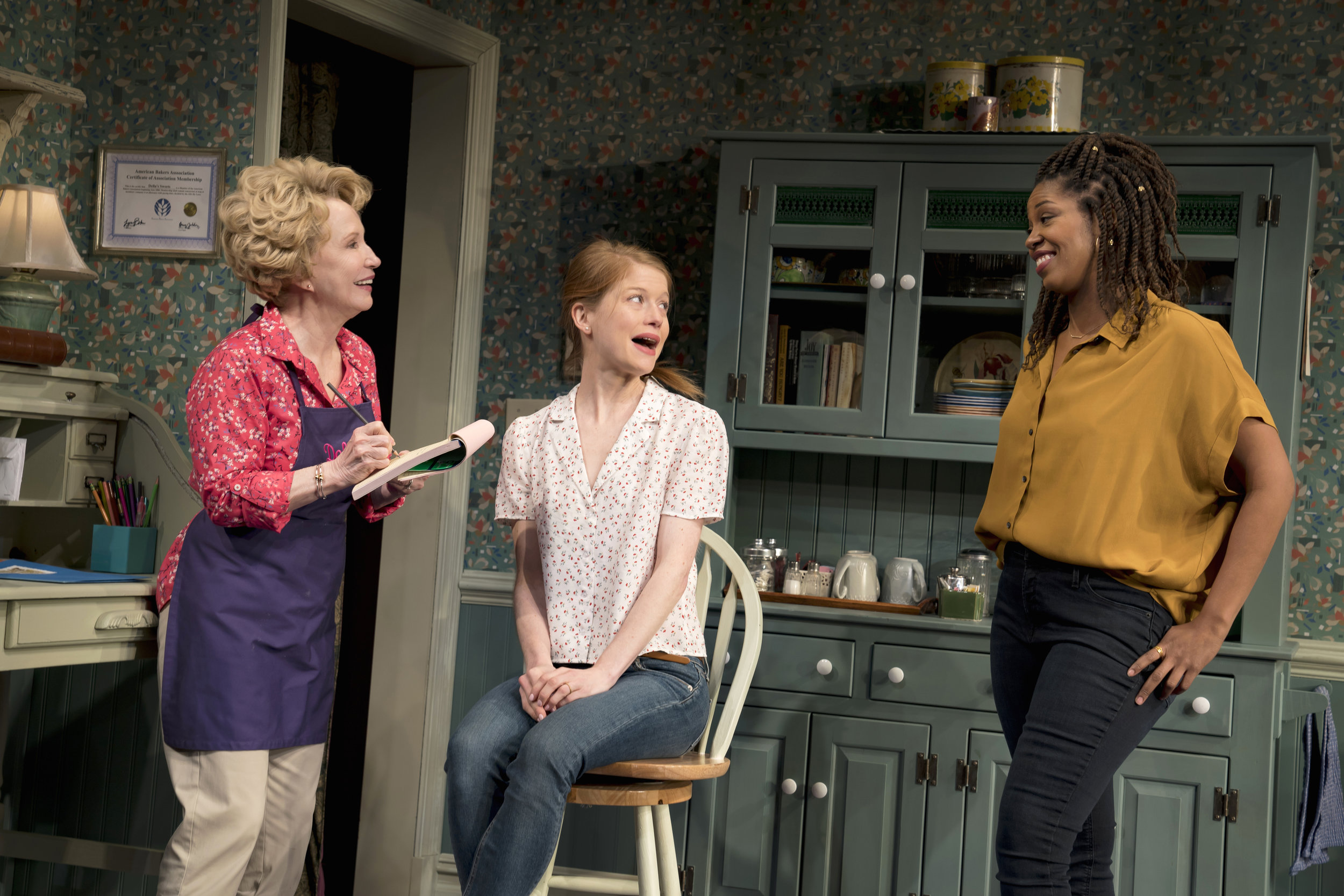 Debra Jo Rupp, Genevieve Angelson, and Marinda Anderson. Photo Credit: Joan Marcus