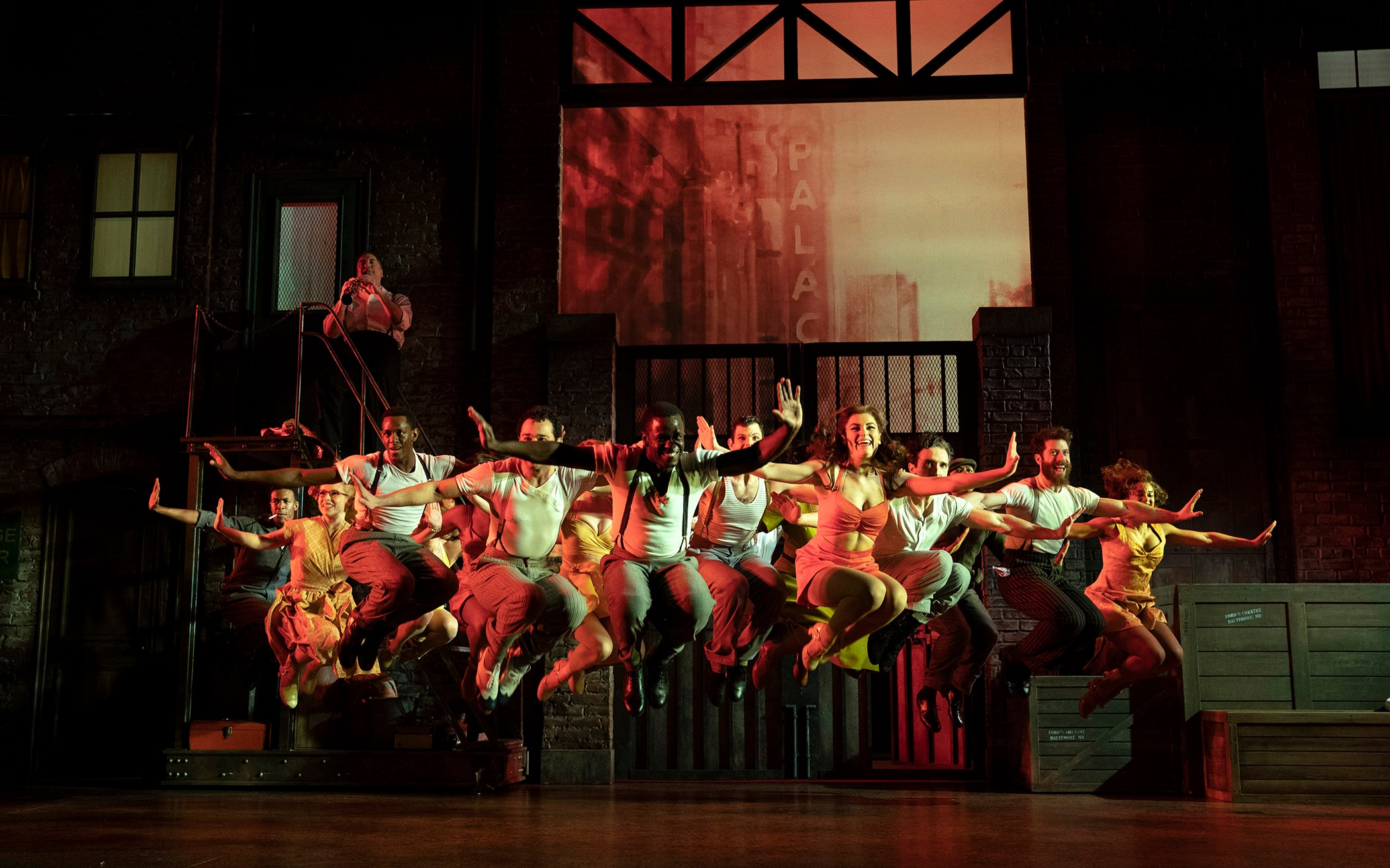 "James T. Lane and the company of ""Kiss Me, Kate"" perform ""Too Darn Hot"". Photo Credit: Joan Marcus"