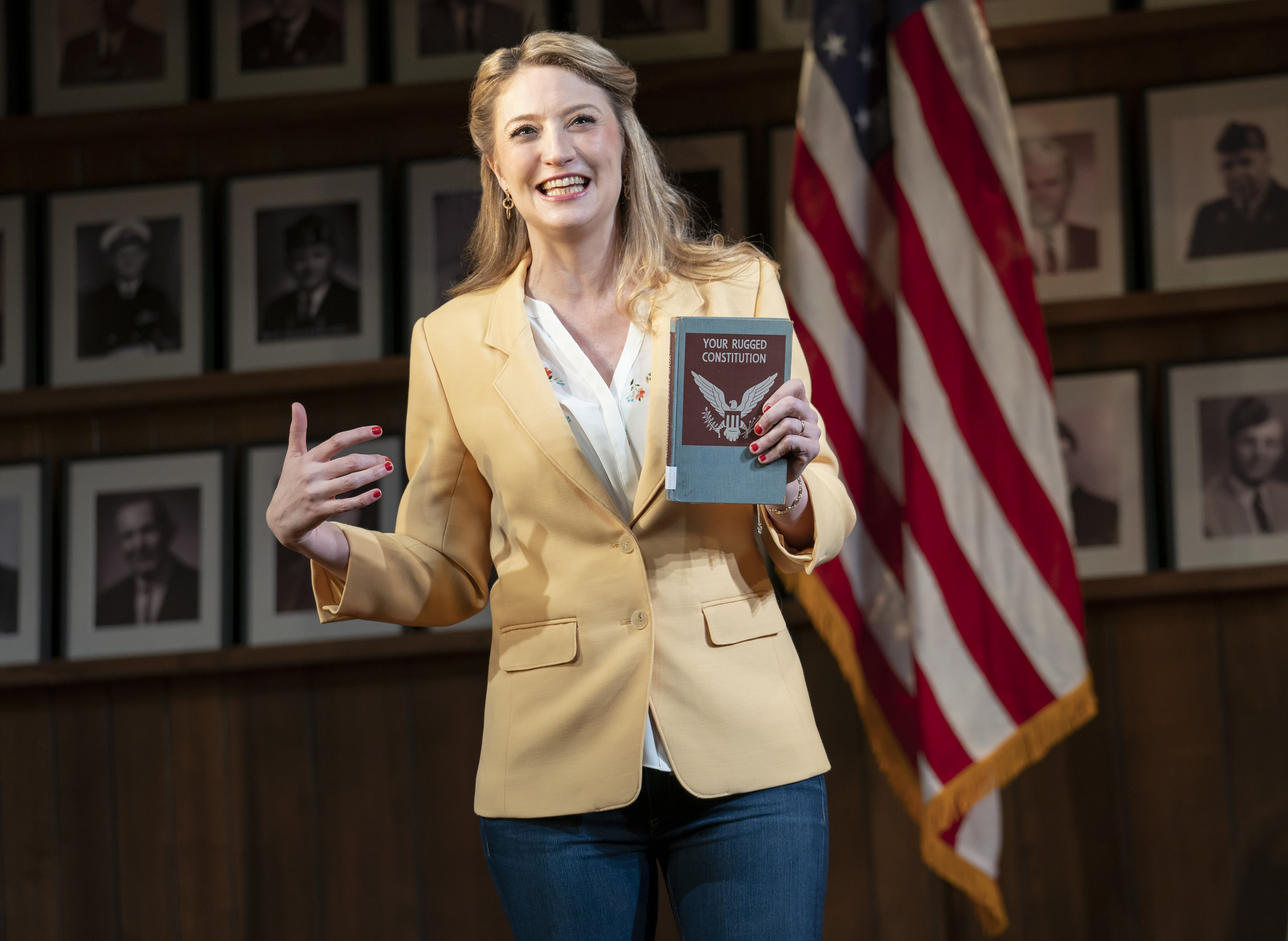 """Heidi Schreck in """"What the Constitution Means to Me"""". Photo Credit: Joan Marcus"""