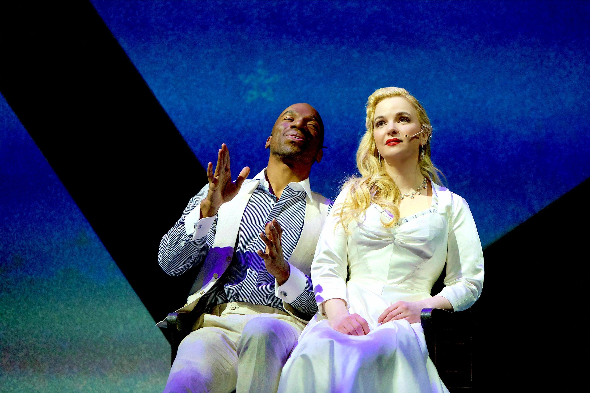 "Azudi Onyejekwe and Doreen Taylor in ""Sincerely, Oscar"". Photo Credit: Derek Brad."