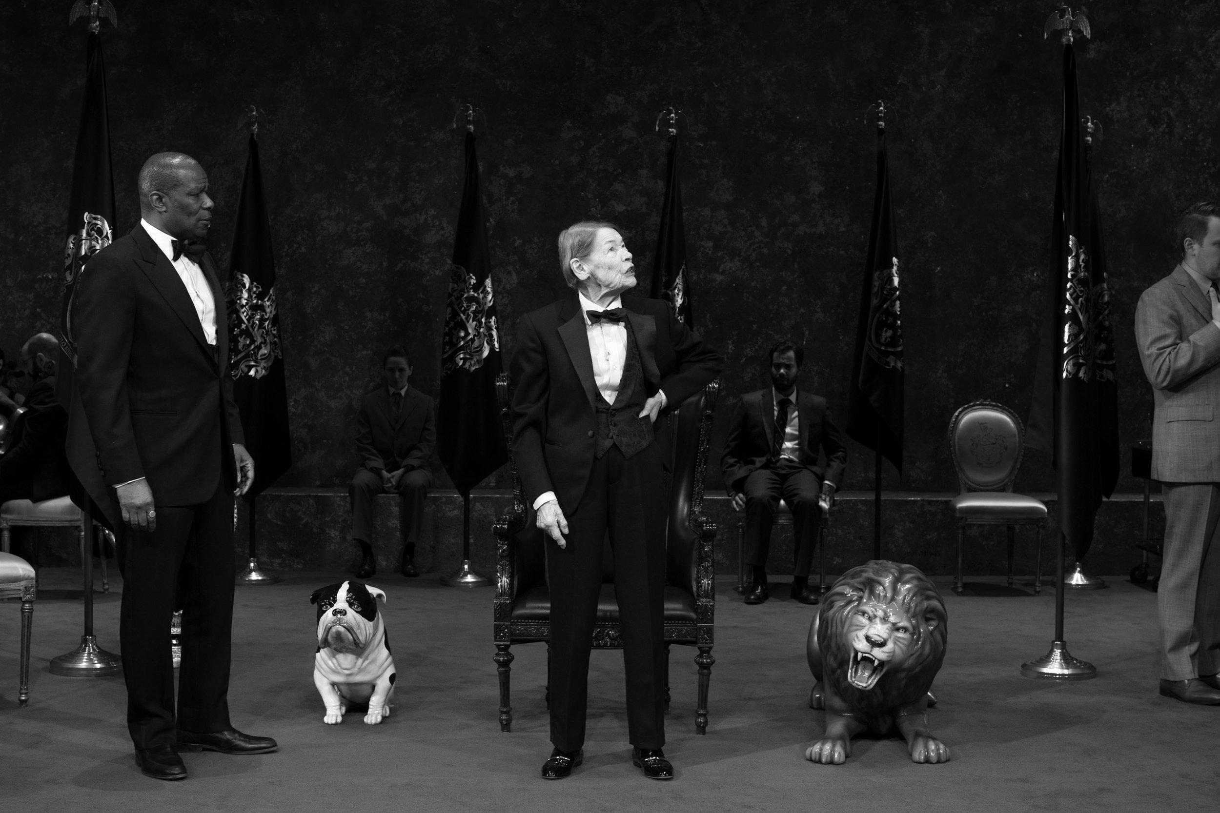 "John Douglas Thompson and Glenda Jackson in ""King Lear"". Photo Credit: Brigitte Lacombe"