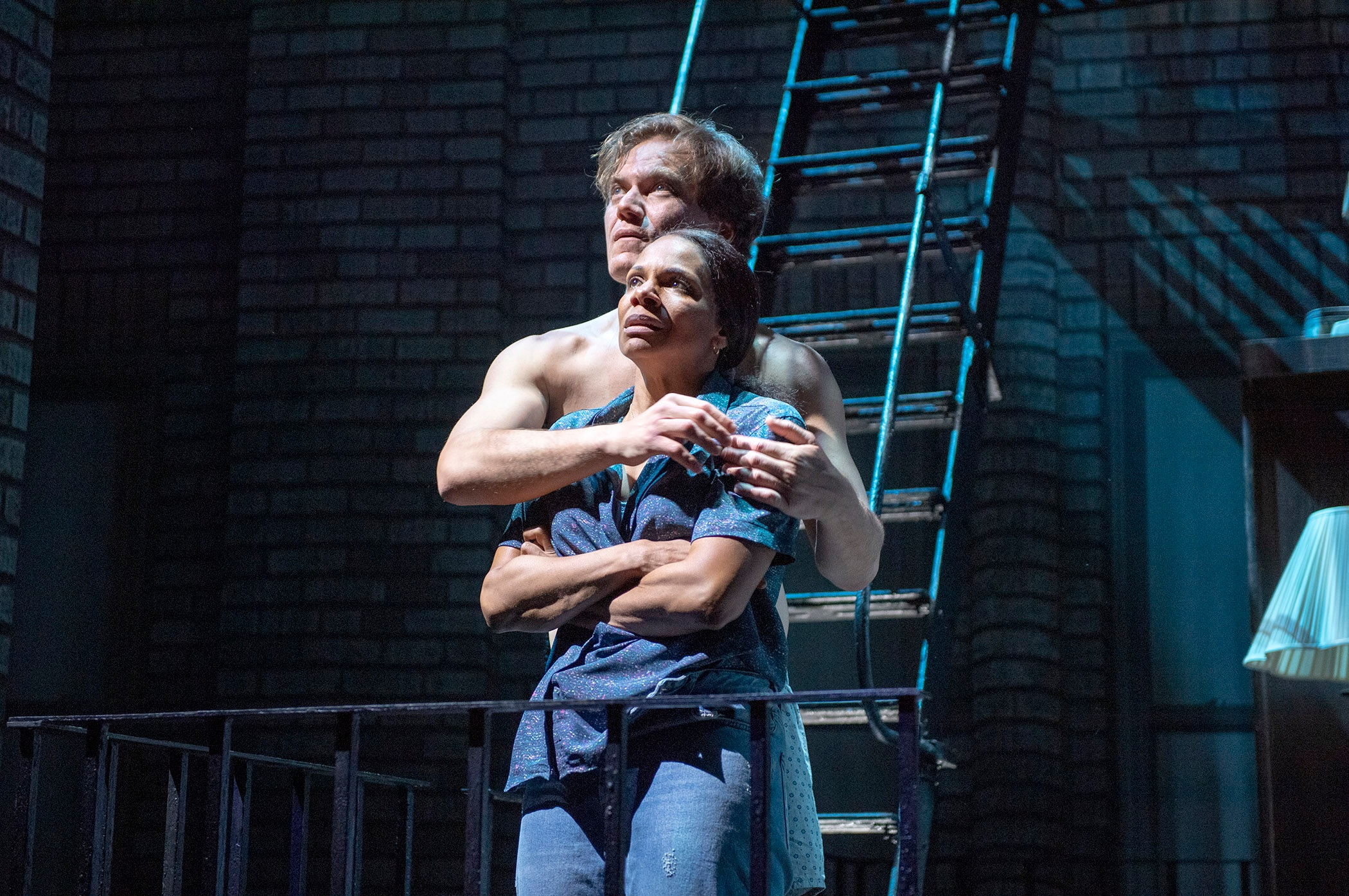 "Audra McDonald and Michael Shannon in ""Frankie and Johnny in the Clair de Lune"". Photo Credit: Deen van Meer."