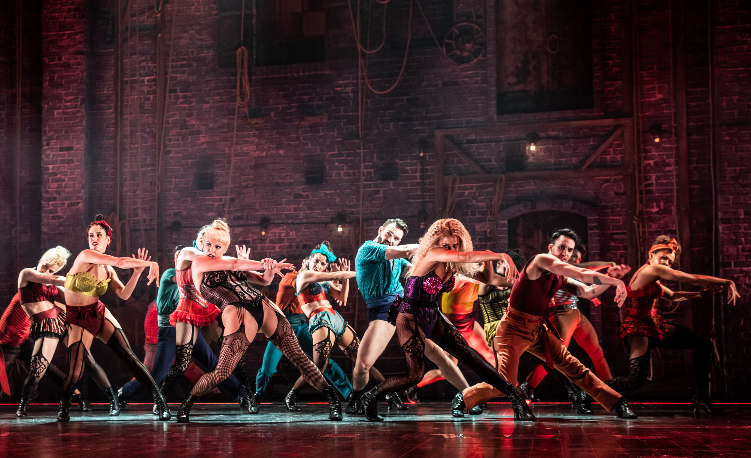 "The company of ""Moulin Rouge! The Musical"". Photo Credit: Matthew Murphy."