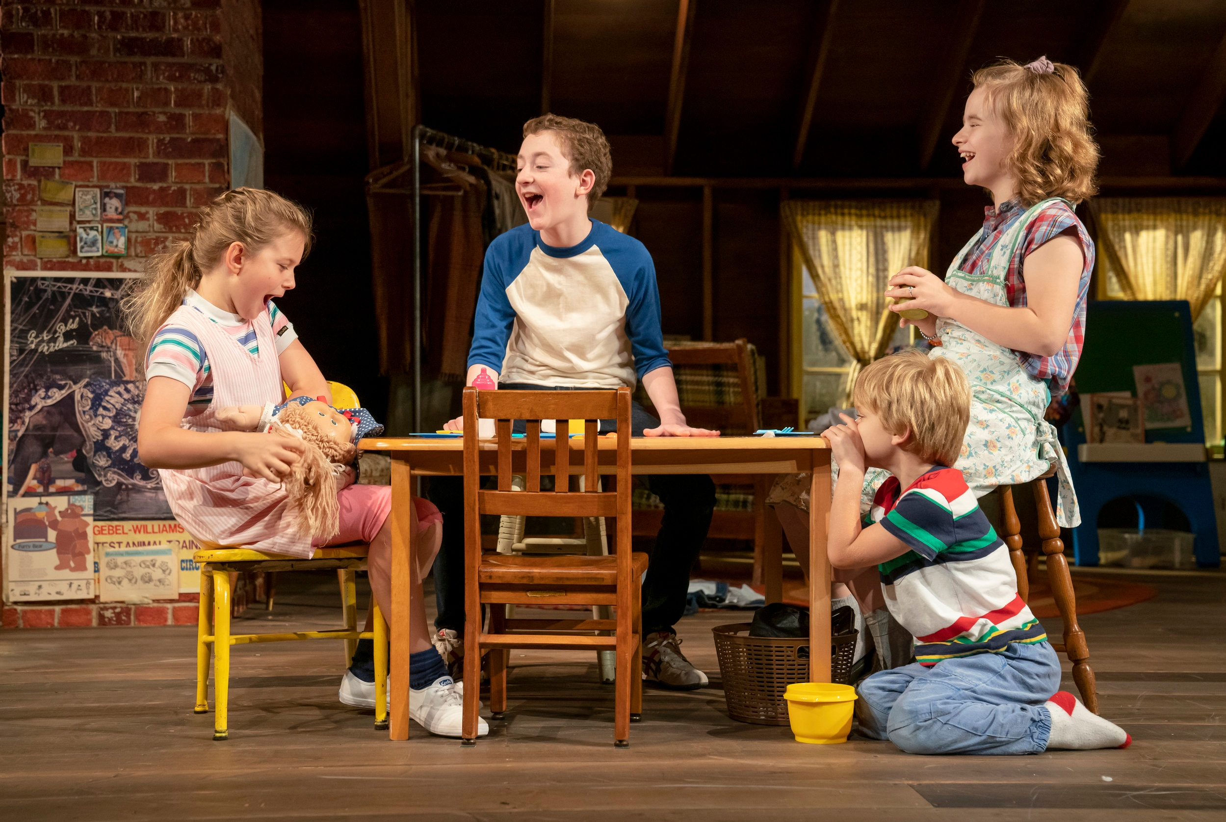 "Casey Hilton, Ryan Foust, Maren Heary, and Harrison Fox in ""Make Believe"". Photo Credit: Joan Marcus"