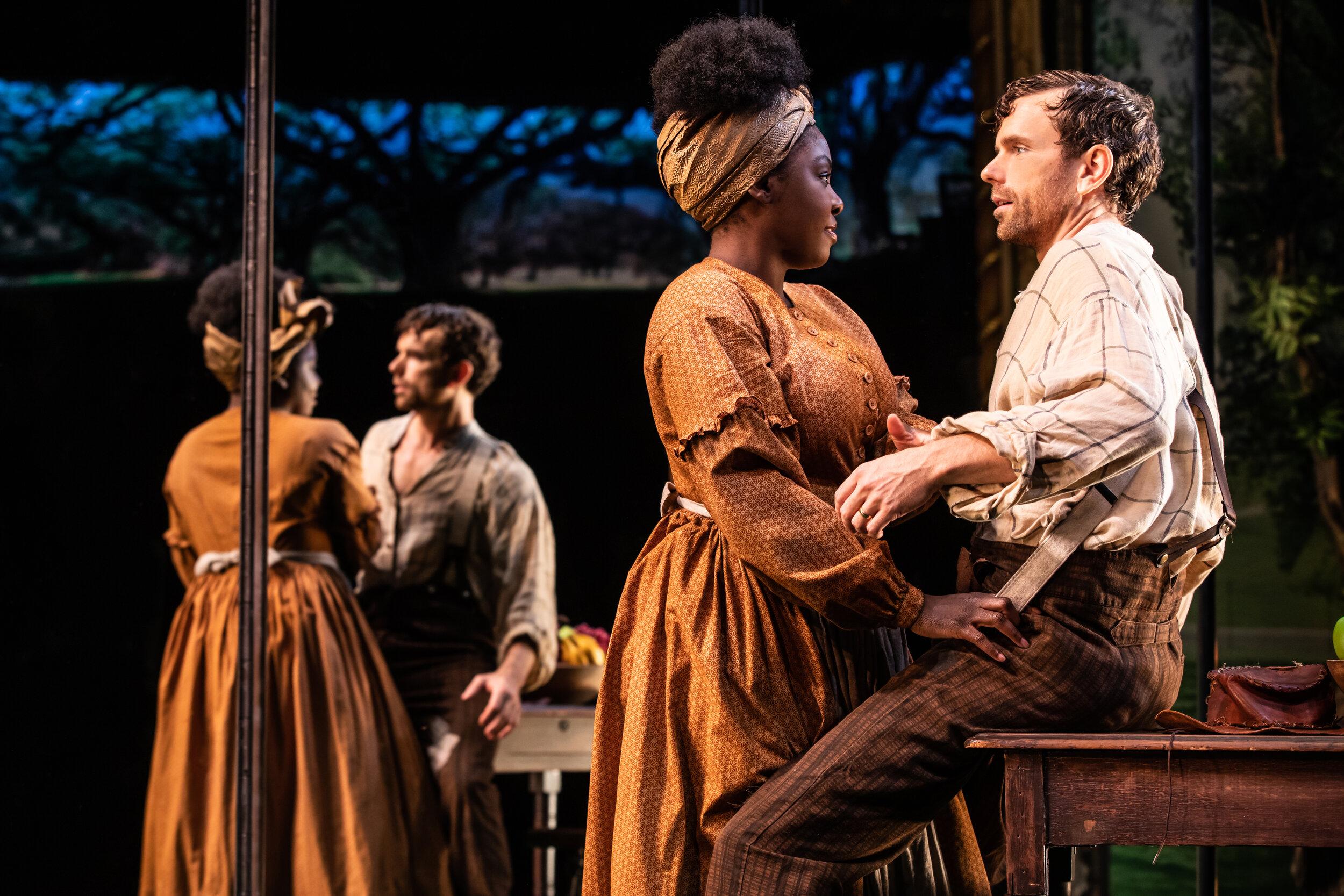 "Joaquina Kalukango and Paul Alexander Nolan in ""Slave Play"". Photo Credit: Matthew Murphy"
