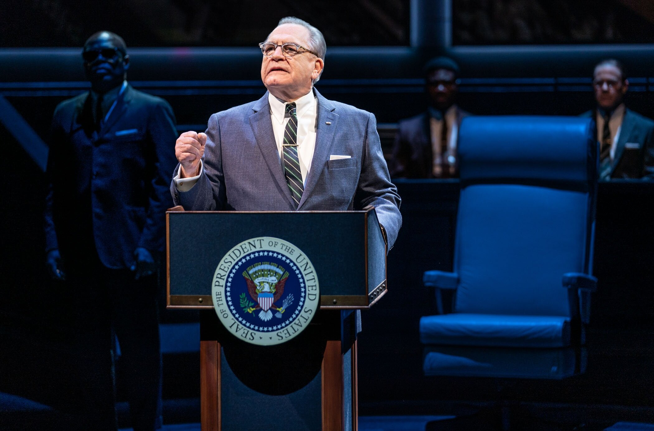 "Brian Cox as LBJ in ""The Great Society"". Photo by Evan Zimmerman for Murphy Made."