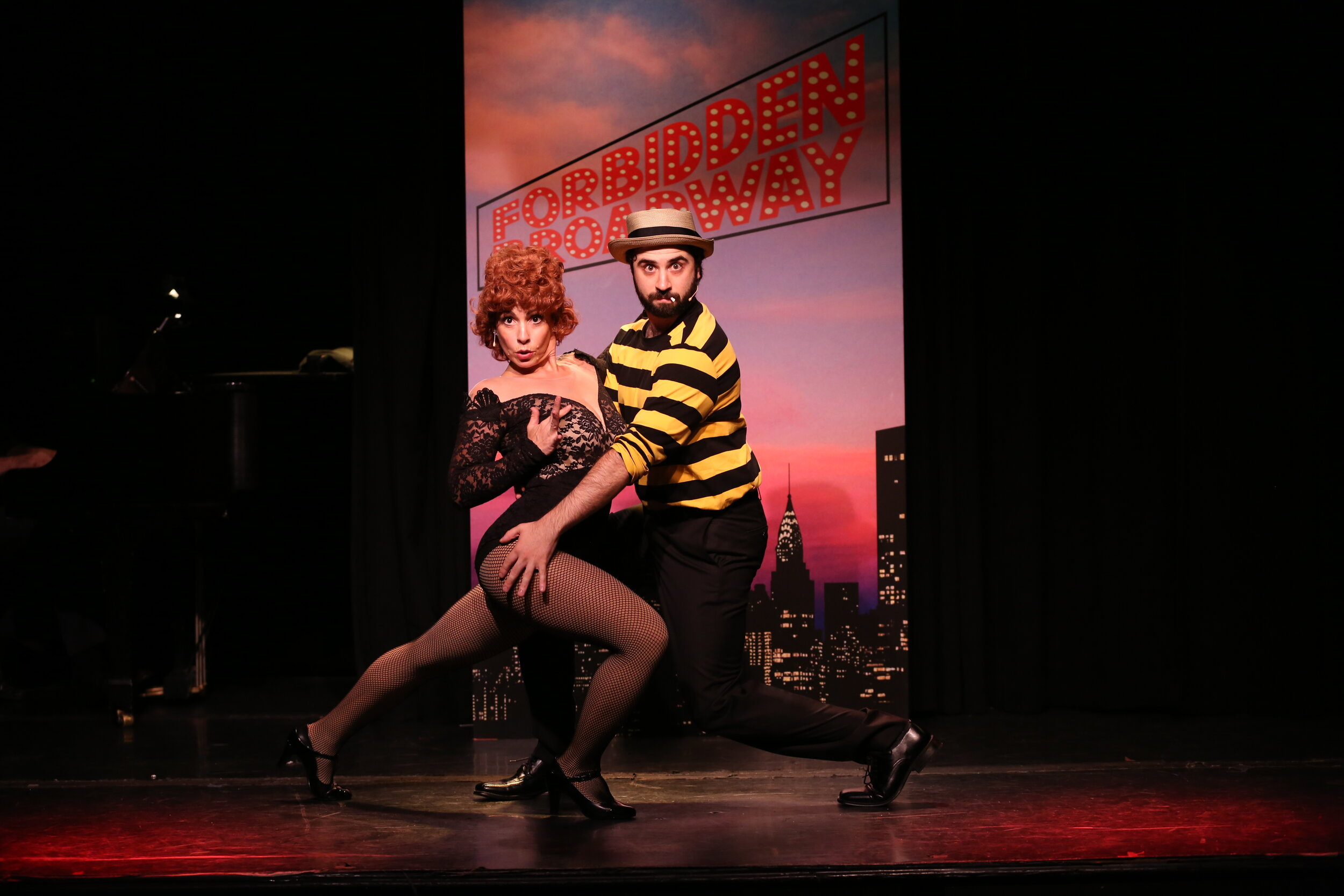 Jenny Lee Stern as Gwen Verdon and Chris Collins-Pisano as Bob Fosse. Photo By Carol Rosegg