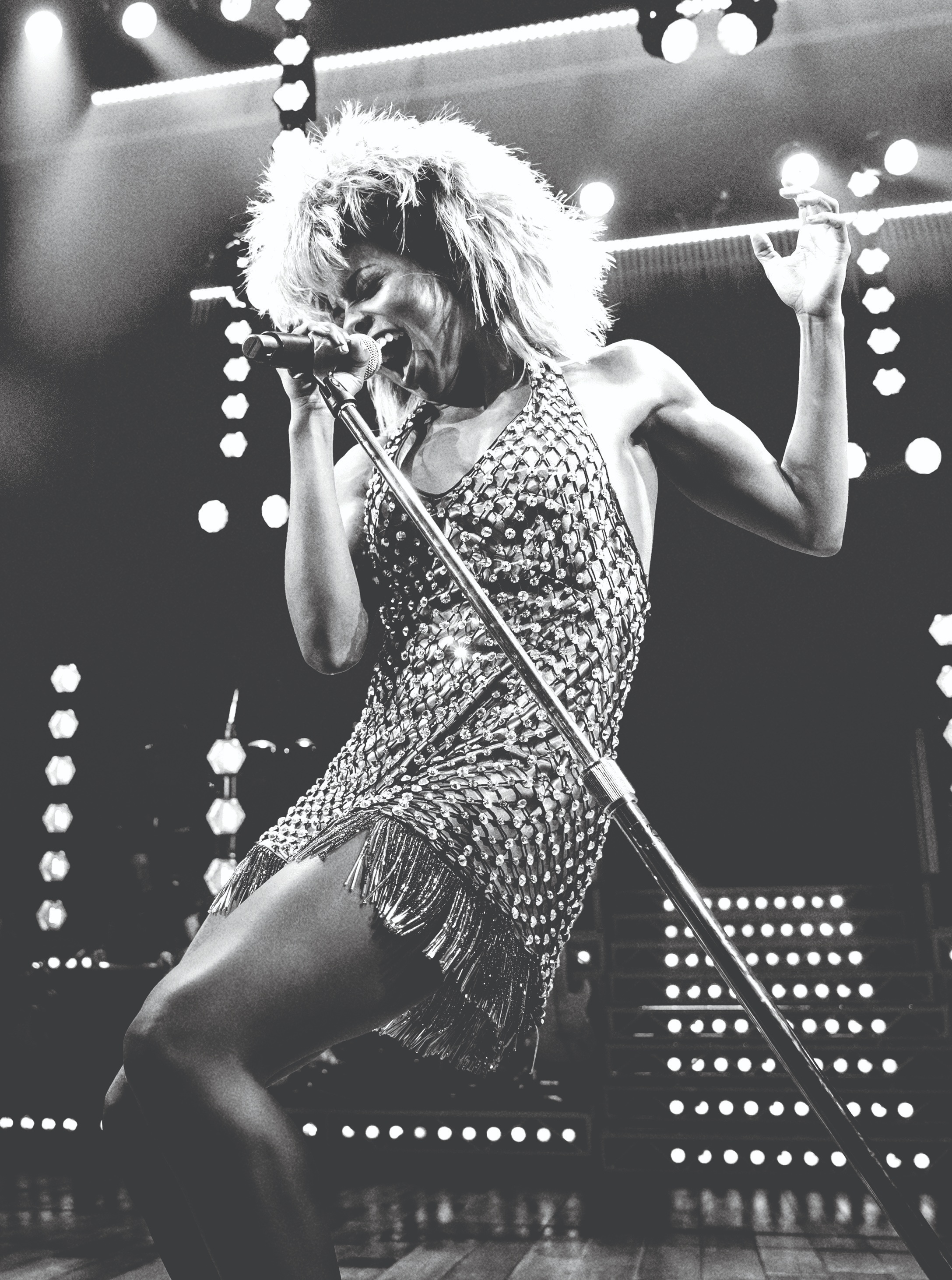 Adrienne Warren as Tina Turner. Photo by Manuel Harlan.