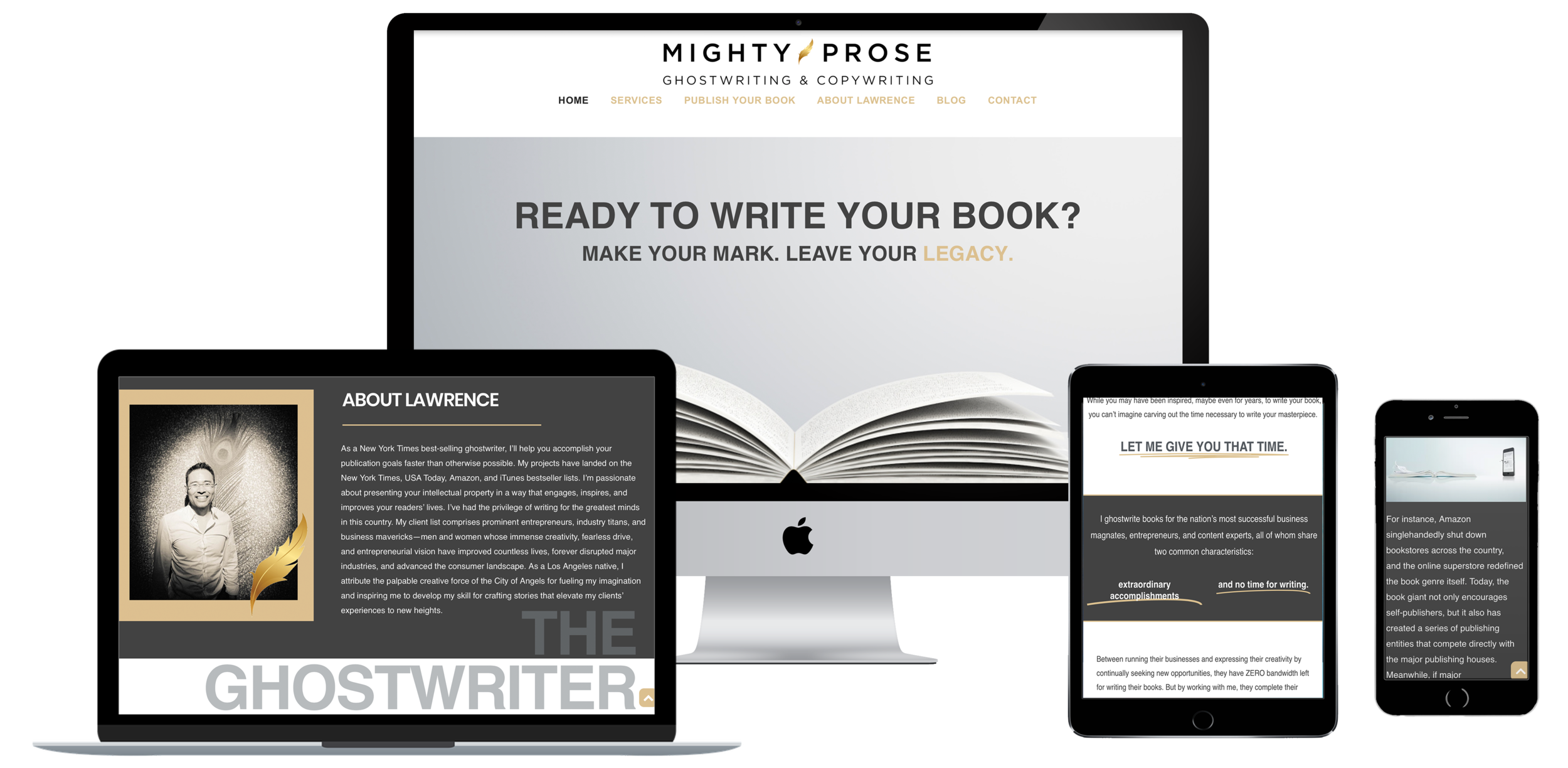 MIGHTY PROSE - LAWRENCE THE GHOSTWRITER