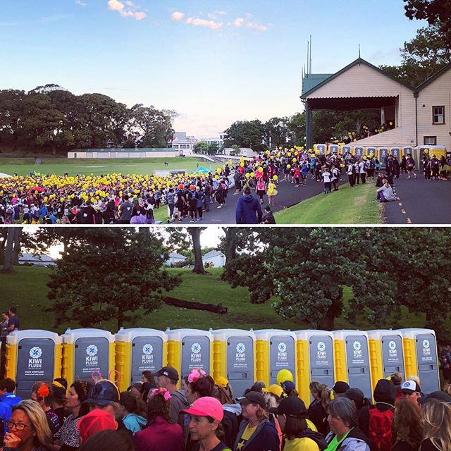 HUGE weekend for Kiwi Flush! Exciting to see our loos at events all over Auckland especially the amazing #walkingstars night half marathon for #cancersociety, what an inspiring event with 4000 people walking for loved ones affected by cancer.  I'm definitely entering a Kiwi Flush team next year, my drivers will be thrilled at the thought of a 21 k walk after delivering 50 loos for the event!! 😜 #teambuilding!!! #aucklandcity #events #aucklanddomain