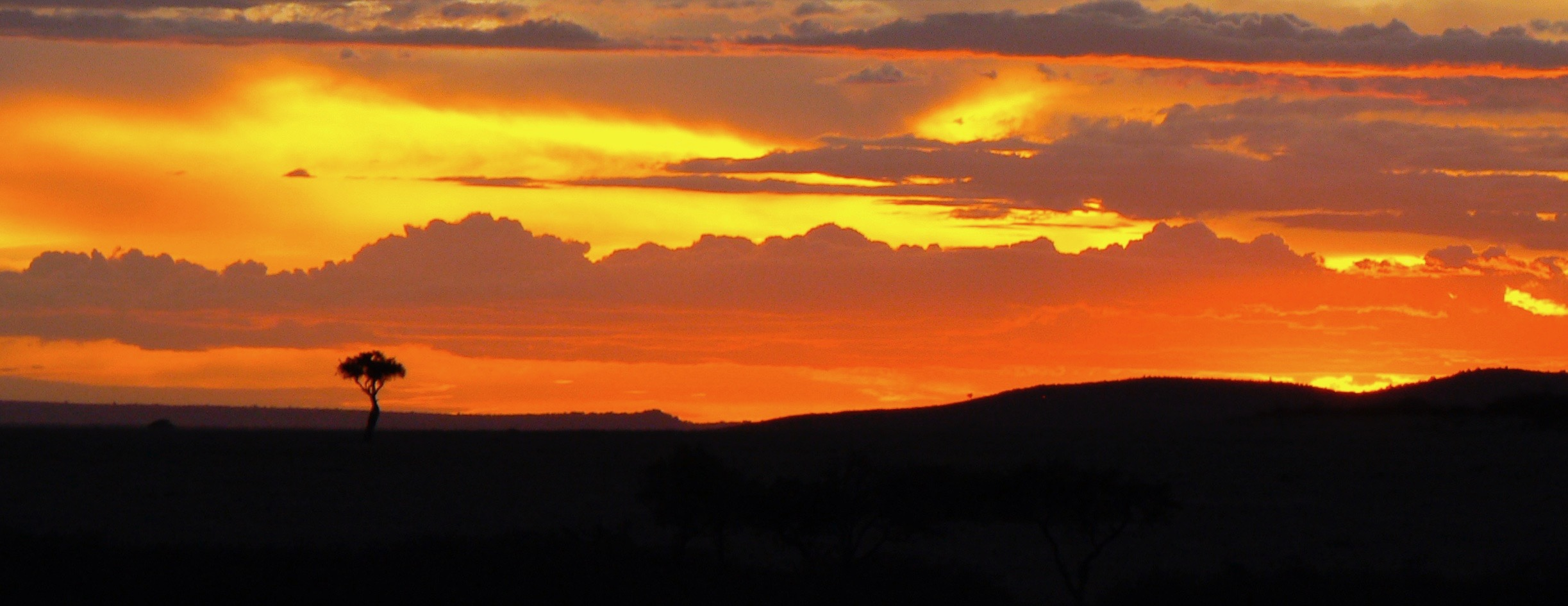 Sunset in the Masai Mara National Reserve