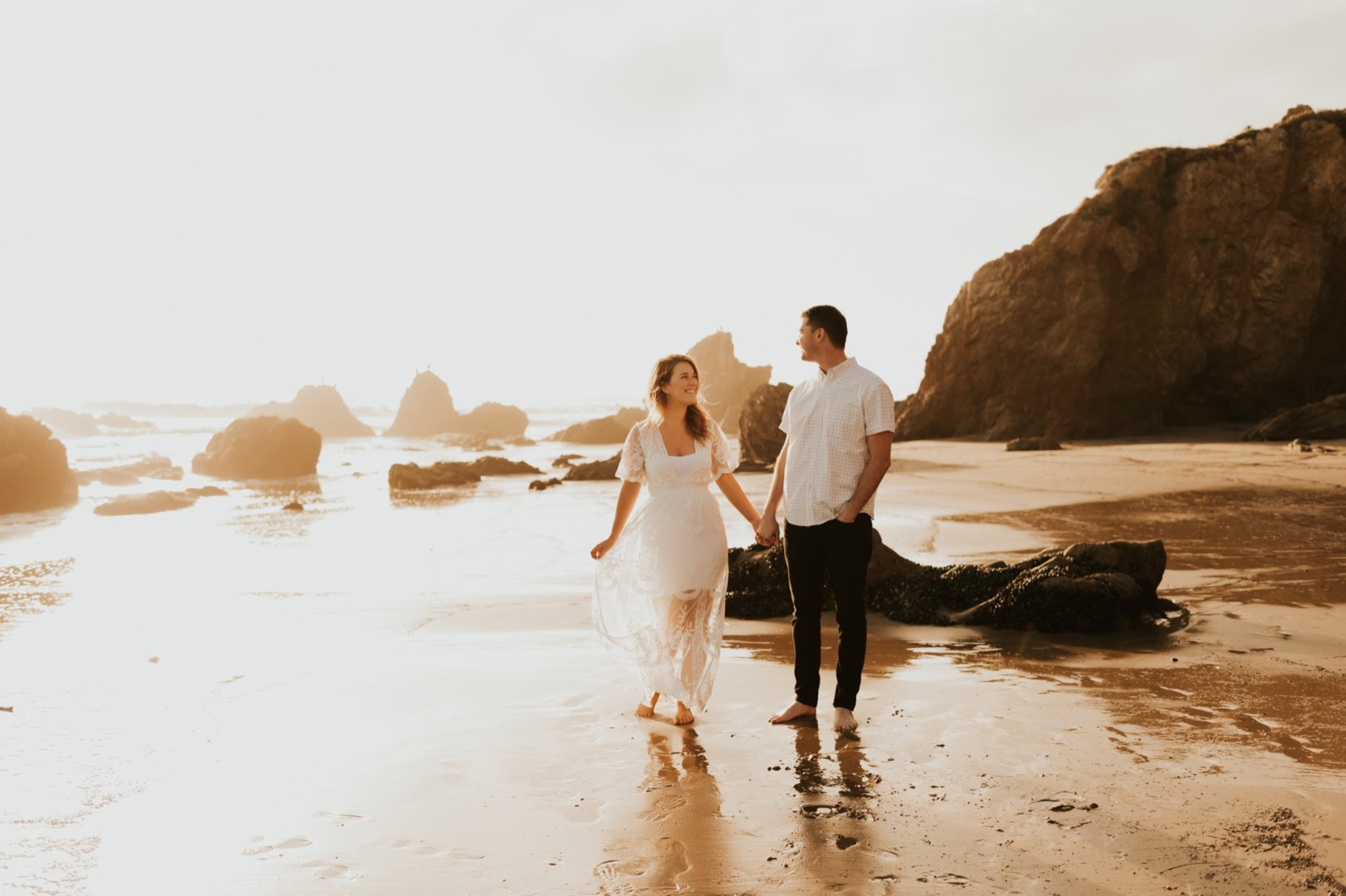Sunset Engagement Session at El Matador Beach, Malibu by Carrie Rogers Photography