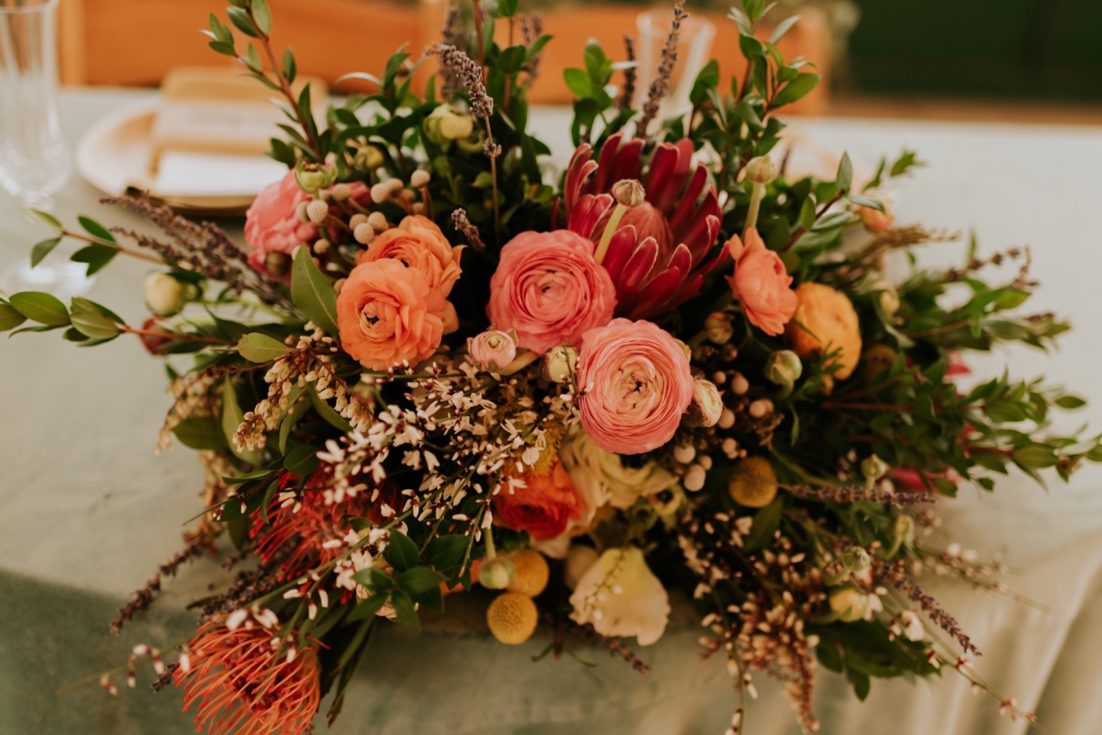Santa Barbara Wedding at the Carousel House | Reception Details | Bridal Bouquet | Carrie Rogers Photography