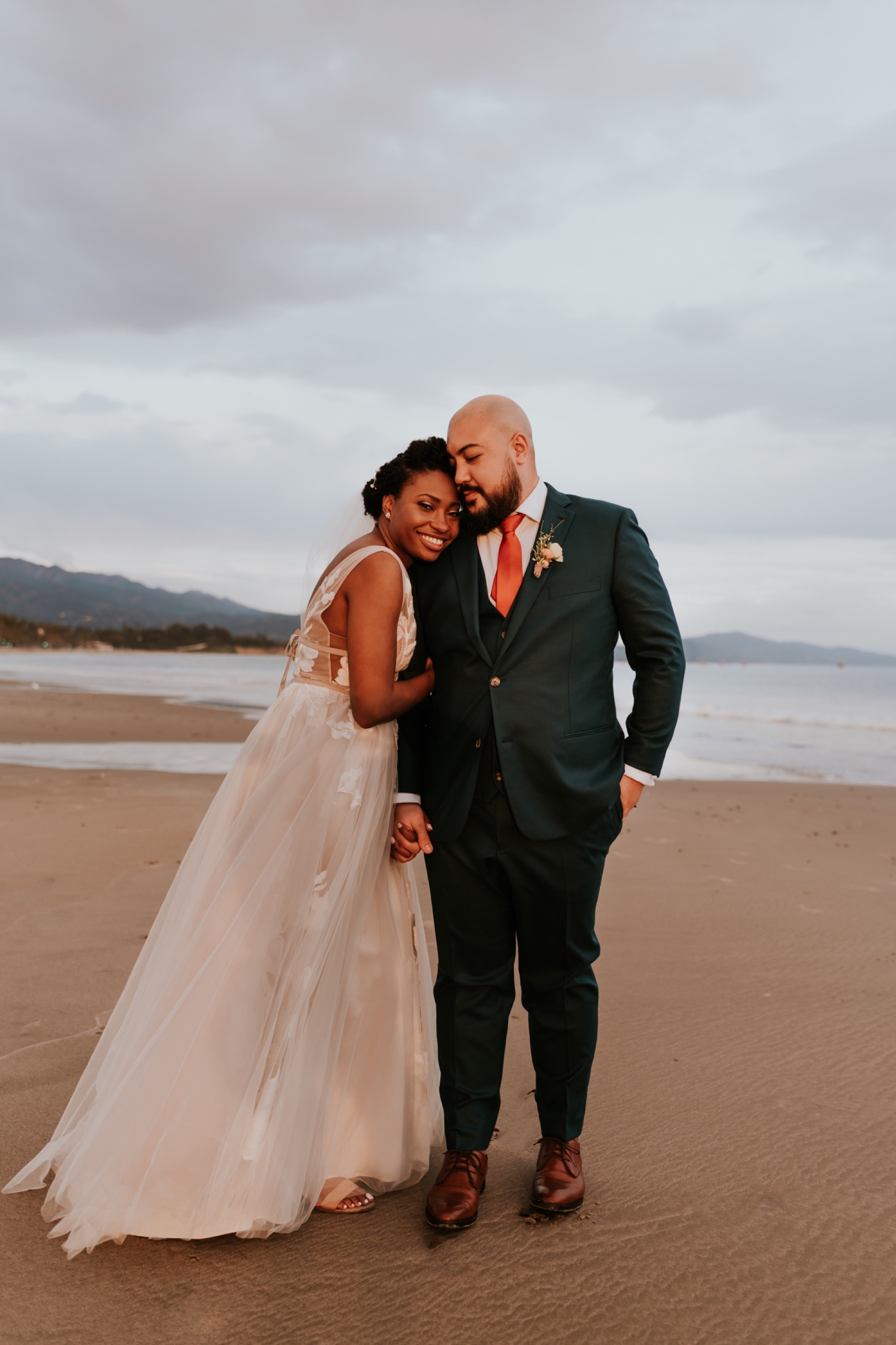 Santa Barbara Wedding at the Carousel House | Sunset Beach Wedding Portraits | Carrie Rogers Photography