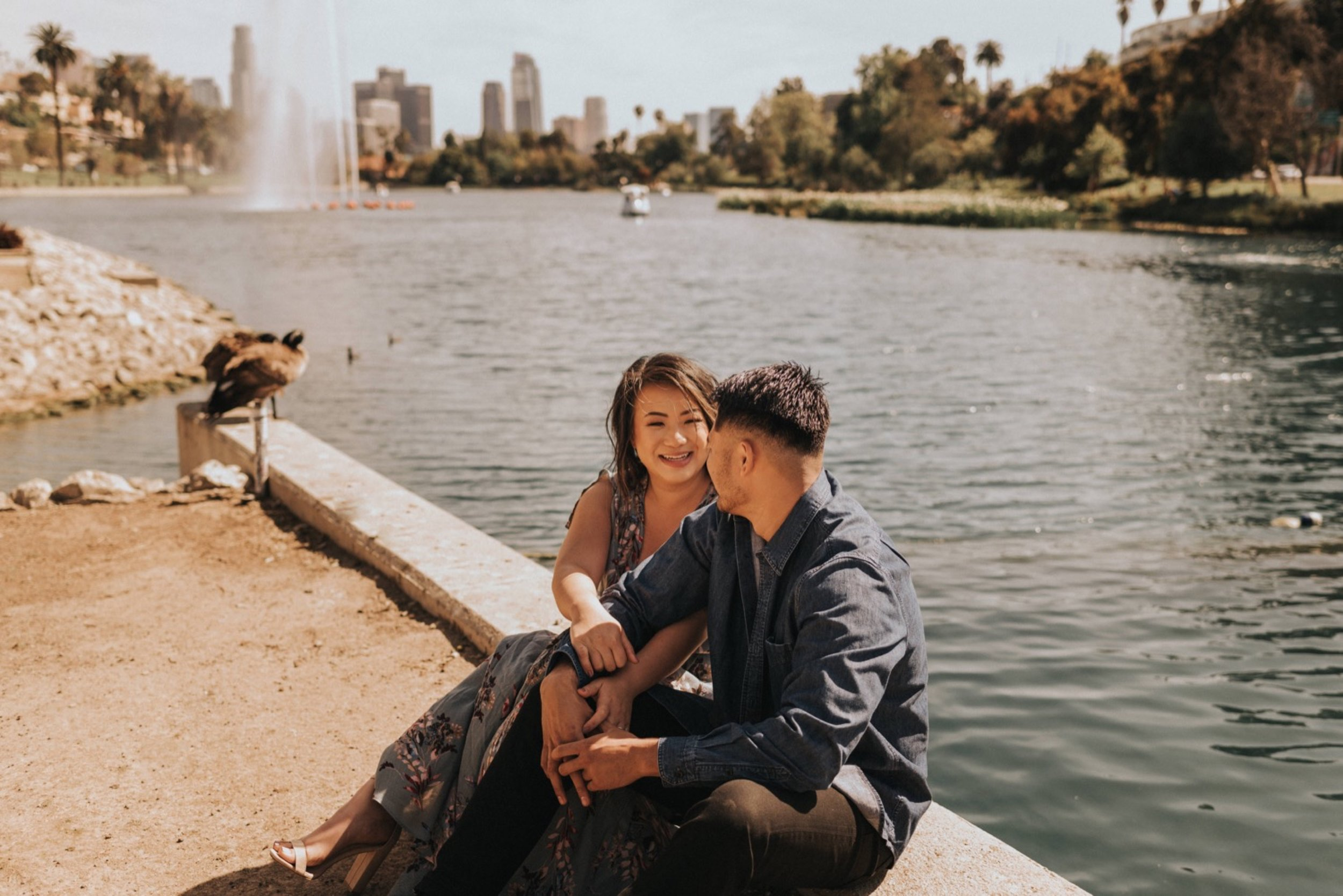 Echo Park Lake Engagement Session | Los Angeles Engagement Session | Carrie Rogers Photography | Los Angeles Wedding Photographer | #couples #engagement #weddingphotography