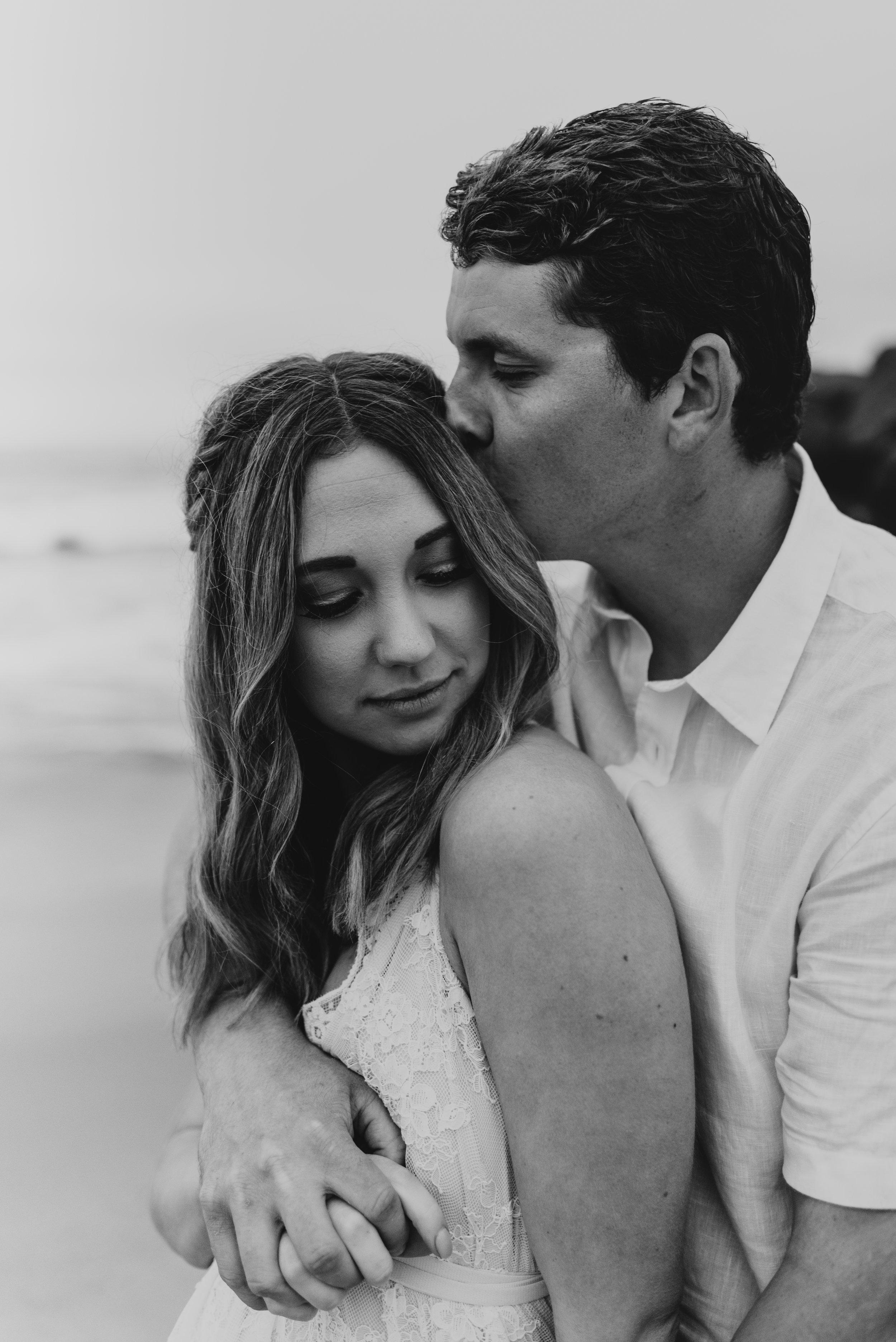 Sunset Cliffs San Diego Wedding Bridal Session | Adventurous Elopement Photographer | San Diego Wedding Photographer