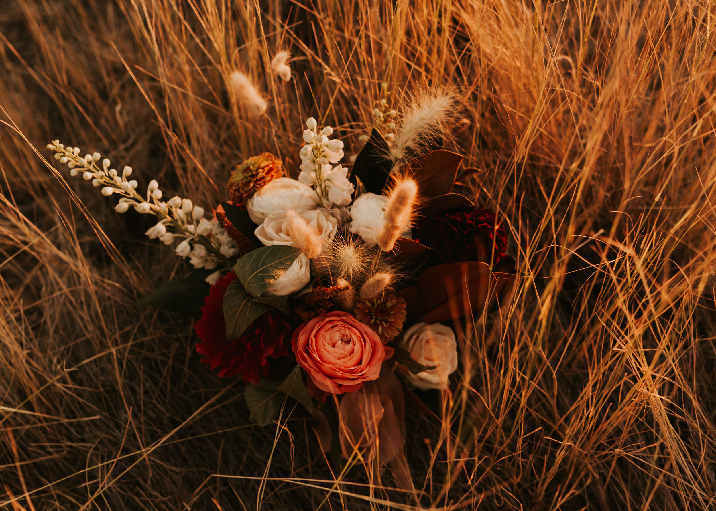 Boise Foothills Bridal Session | Idaho Elopement | Intimate Boise, Idaho Wedding | Carrie Rogers Photography | Daci Gowns | Wildflower Bouquet