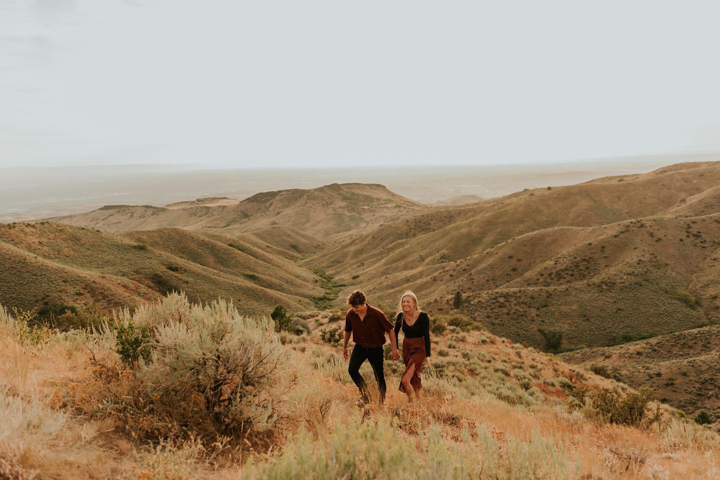 Bogus Basin Couples Session   Boise, Idaho Engagement Photos   Carrie Rogers Photography   Adventurous Couples Session