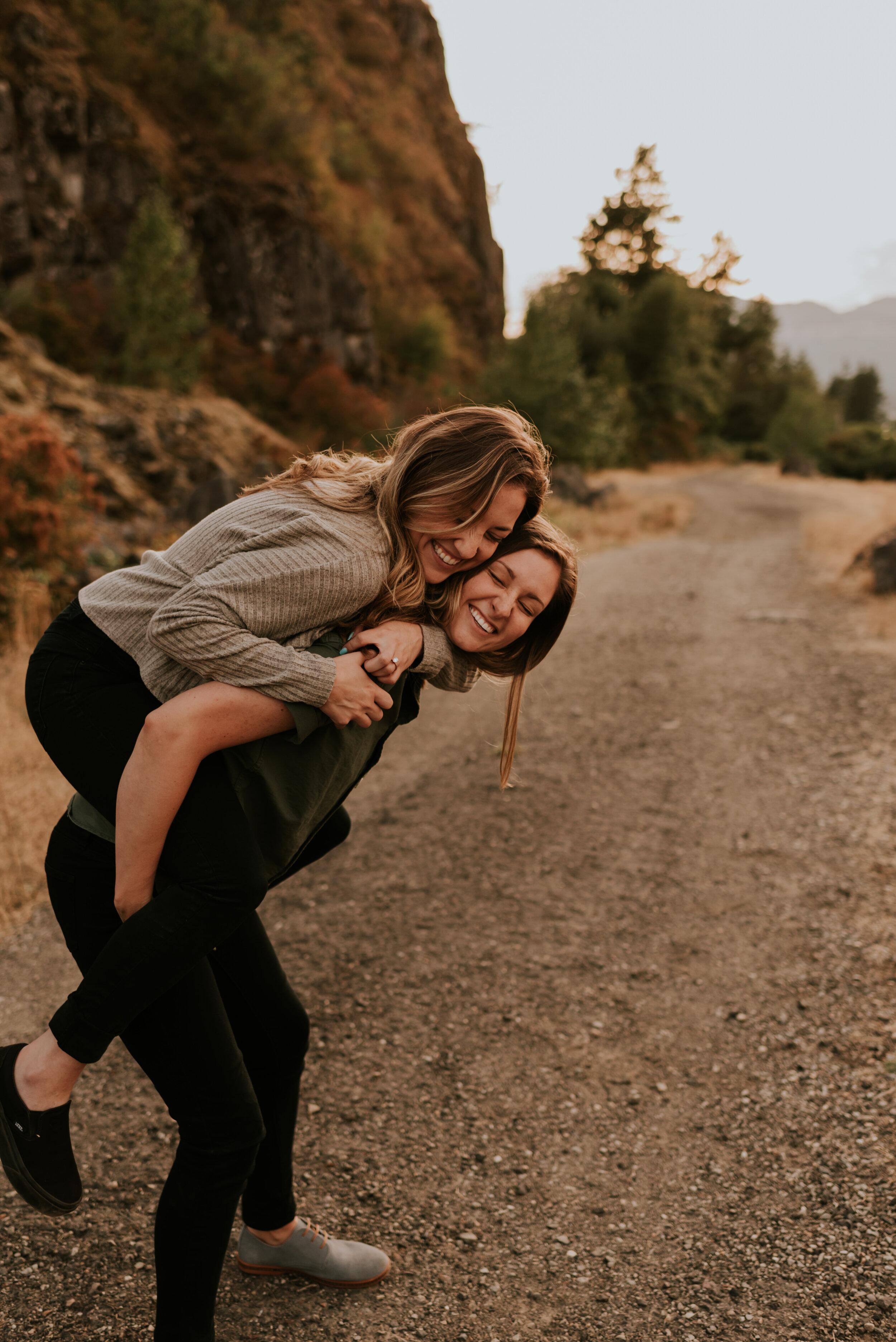 Columbia River Gorge Portland Oregon Engagement Session | Same Sex Couples Session | LGBT Engagement Session | Adventurous Couples