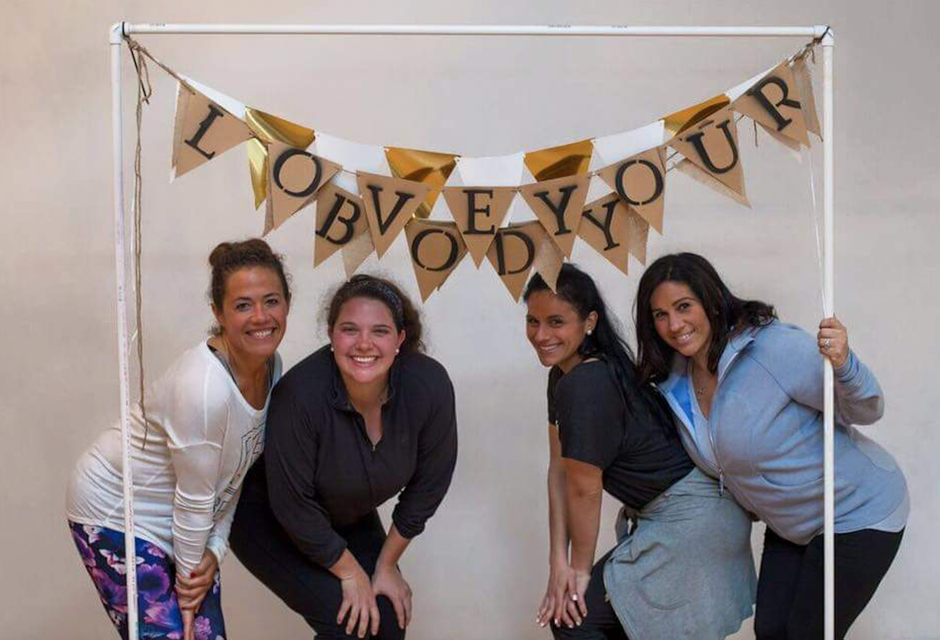 Brittany is featured third from the left. To the right of her is her #1 supporter, her sister Jennifer Venezio, the owner of Body By Design Group Fitness.