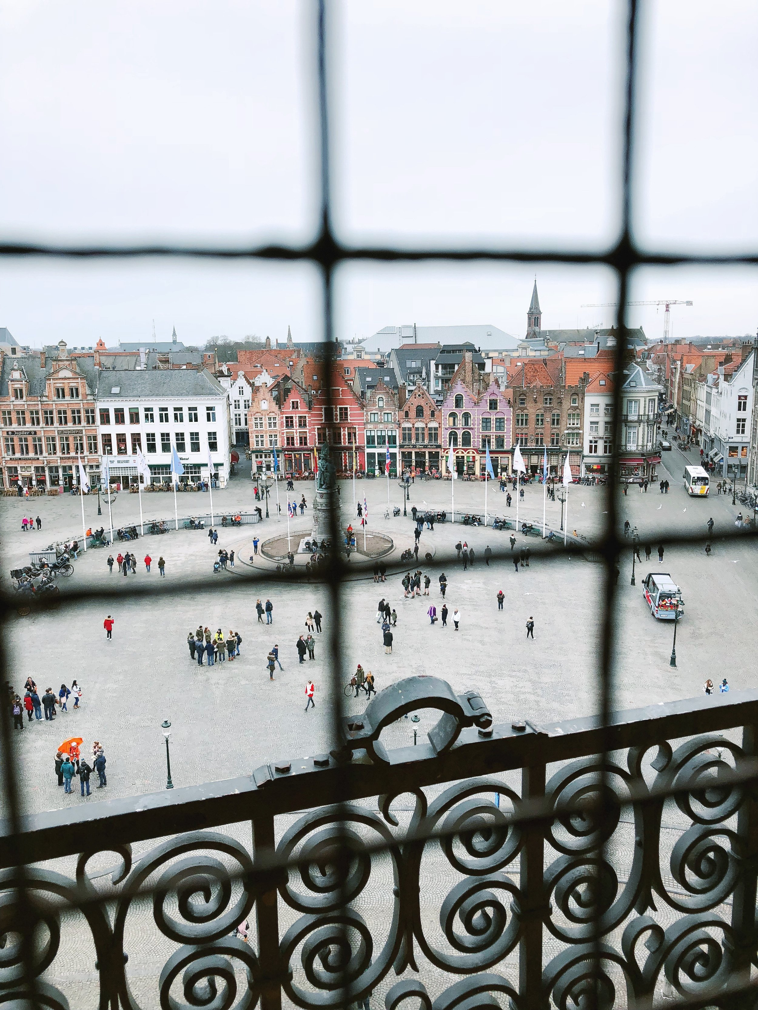 View from the top of the Belfry of Bruges