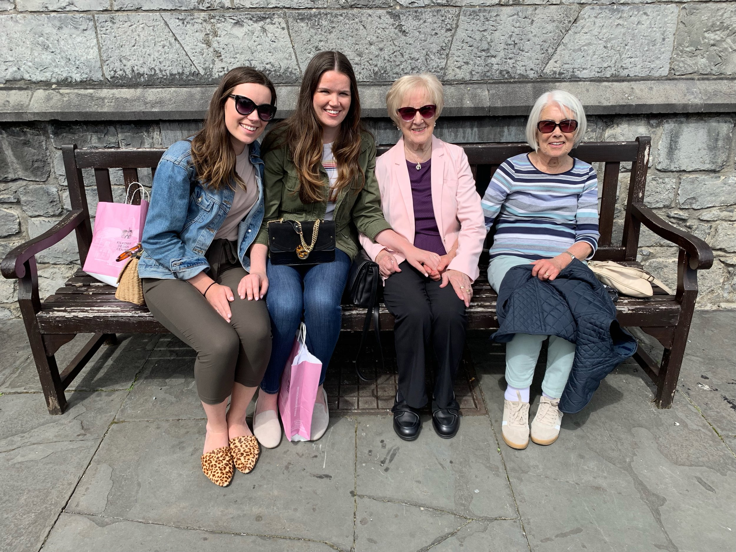 Our day trip to Kilkenny with our Nana (right of me) + great-aunty Sheila (far right).