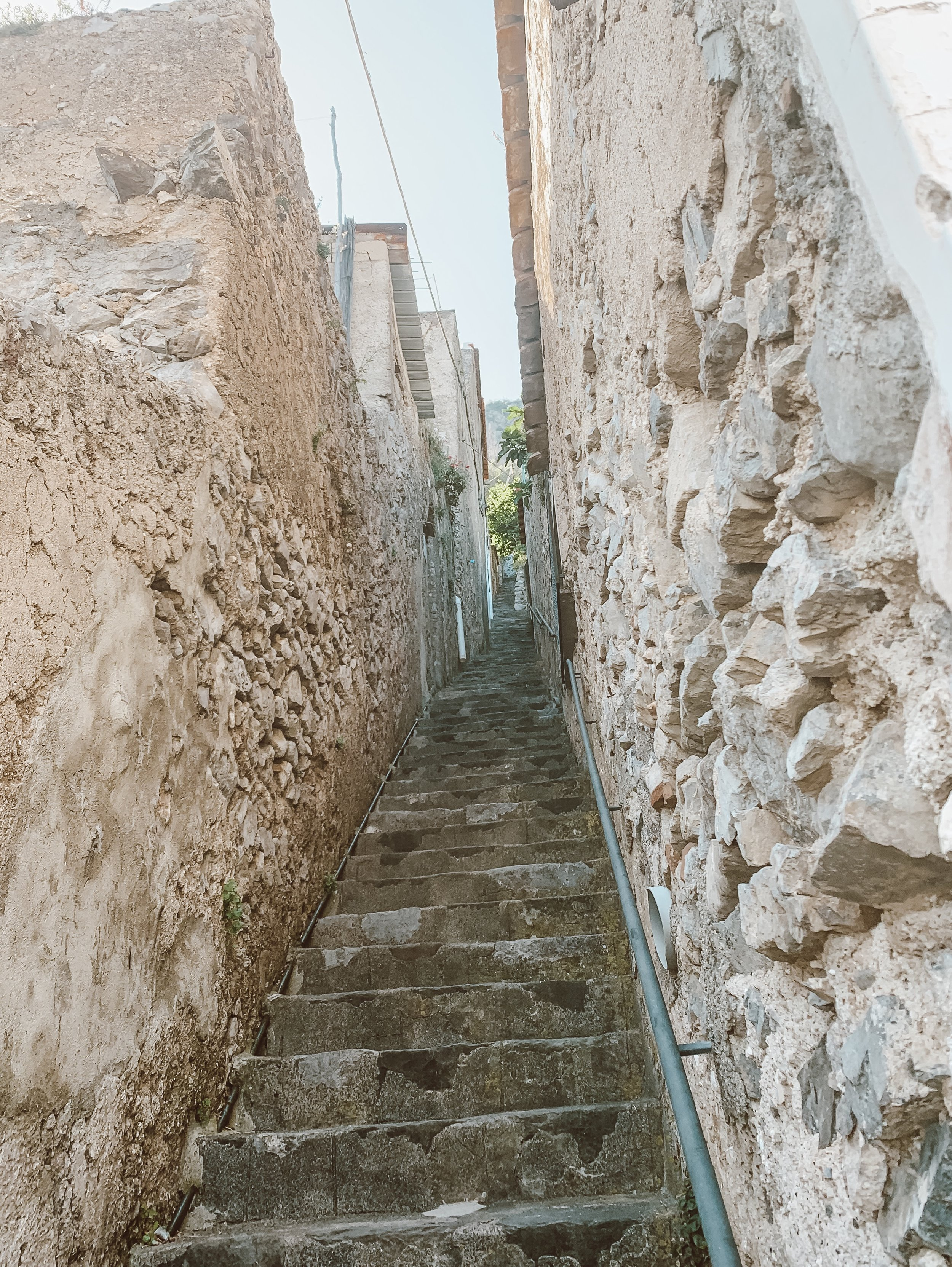 The stairs…oh my goodness. They were never ending in Praiano. My Apple Watch said we climbed ~100 flights of stairs a day.