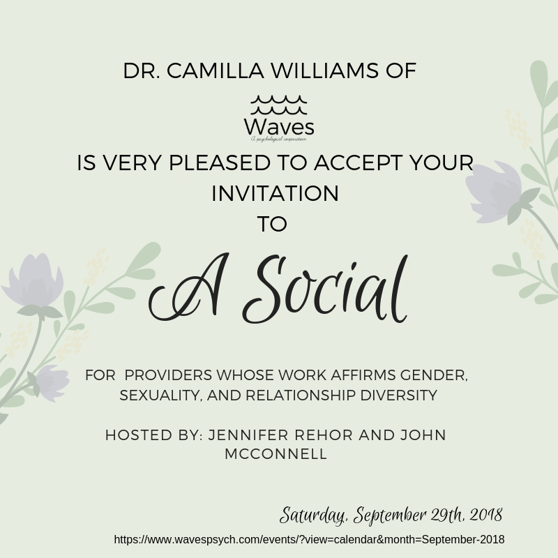 Social time! - Dr. Camilla is going to celebrate gender, sexuality, and relationship diversity!