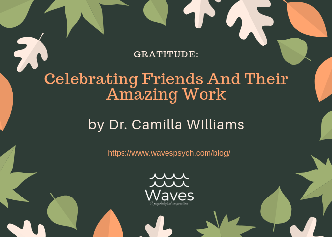 A blog post - by Dr. Camilla Williams