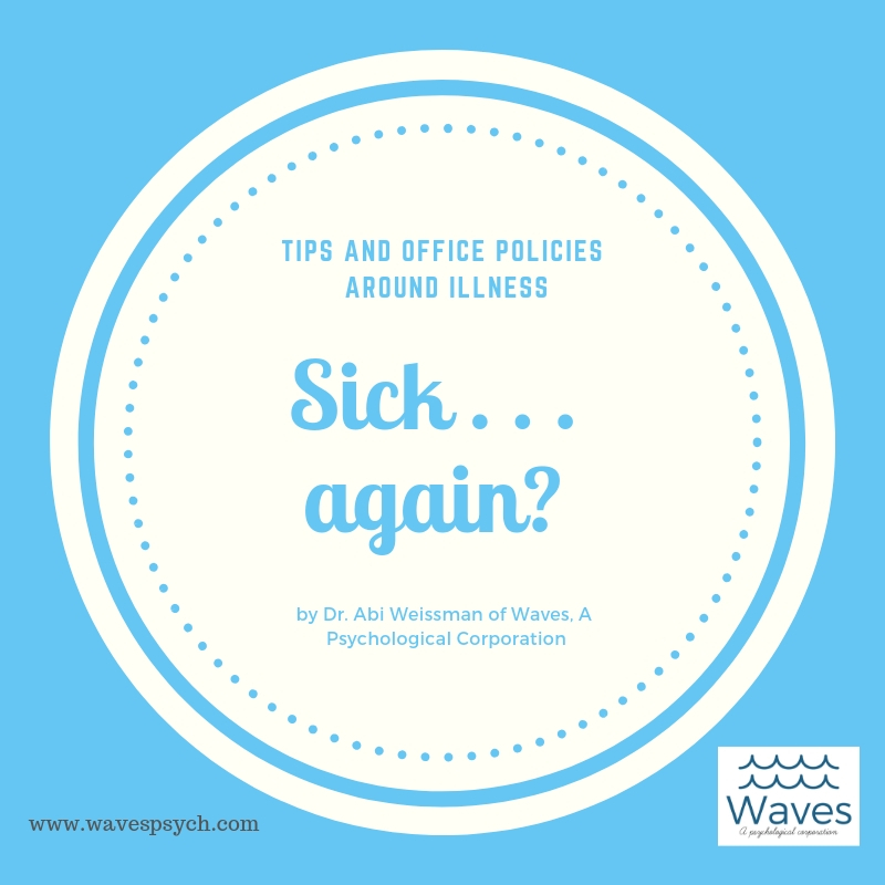 Sick. - Office policies around sickness for the client and the therapist at Waves